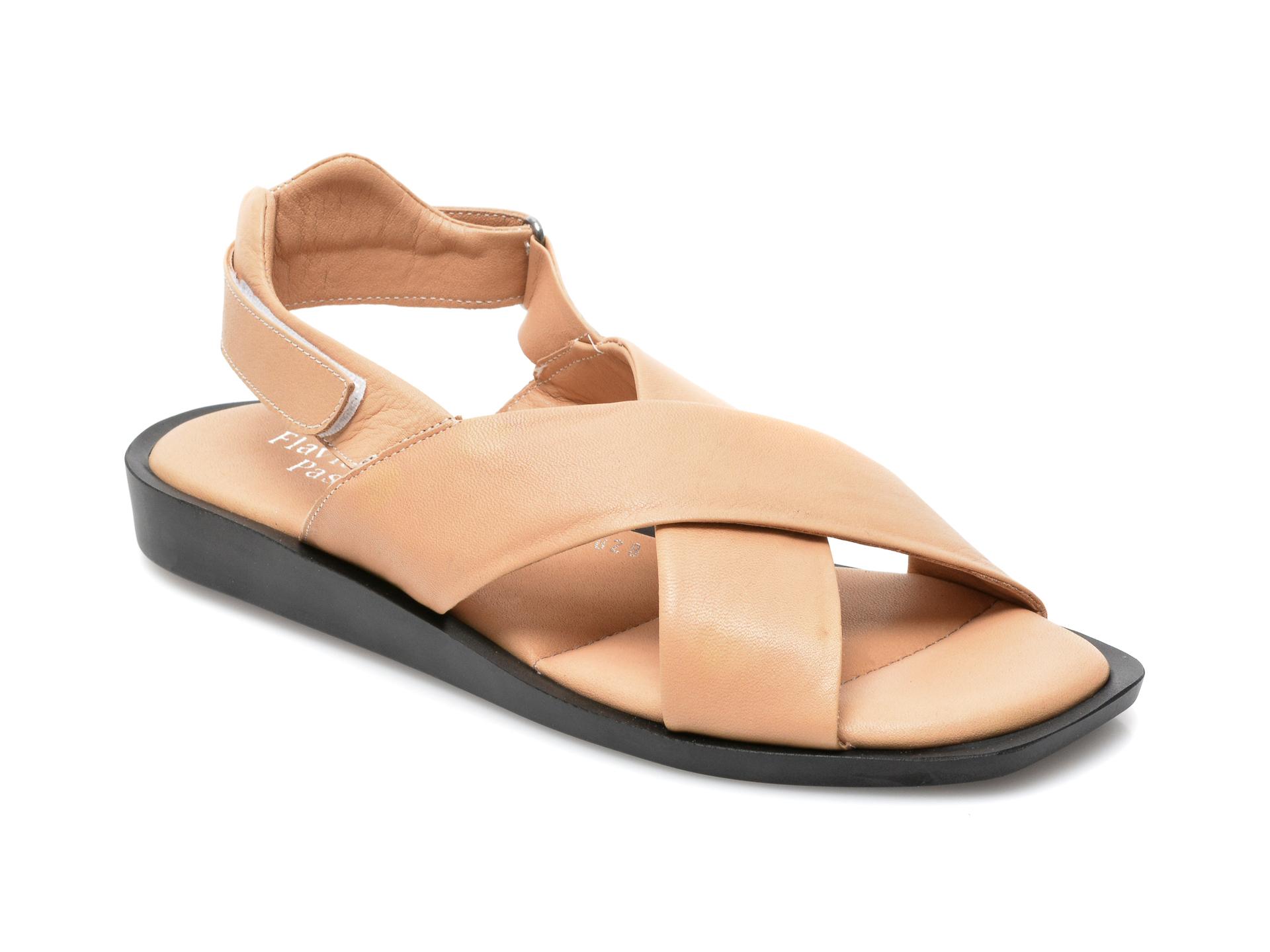 Sandale FLAVIA PASSINI maro, 828SOR, din piele naturala imagine otter.ro 2021