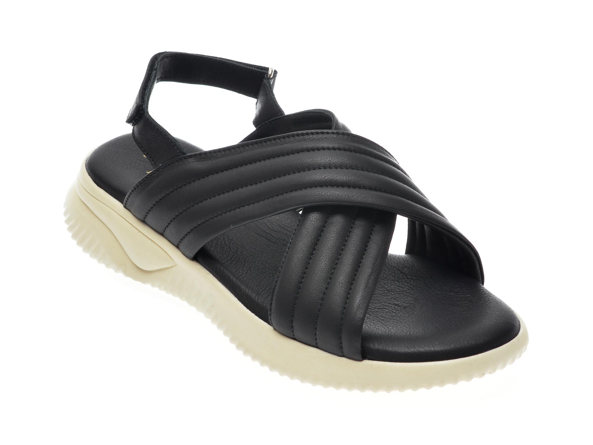 Sandale FLAVIA PASSINI negre, 101, din piele naturala imagine otter.ro 2021