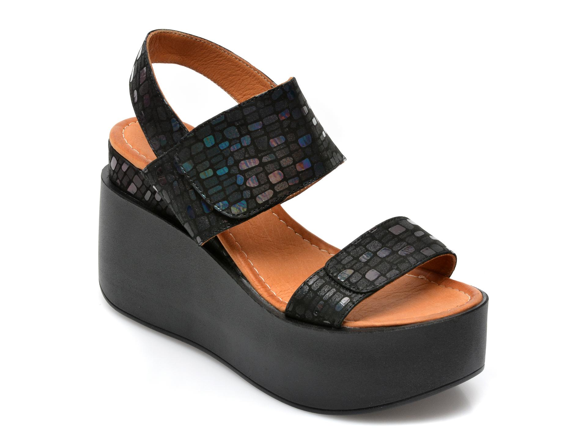 Sandale FLAVIA PASSINI negre, 1026CK, din piele naturala