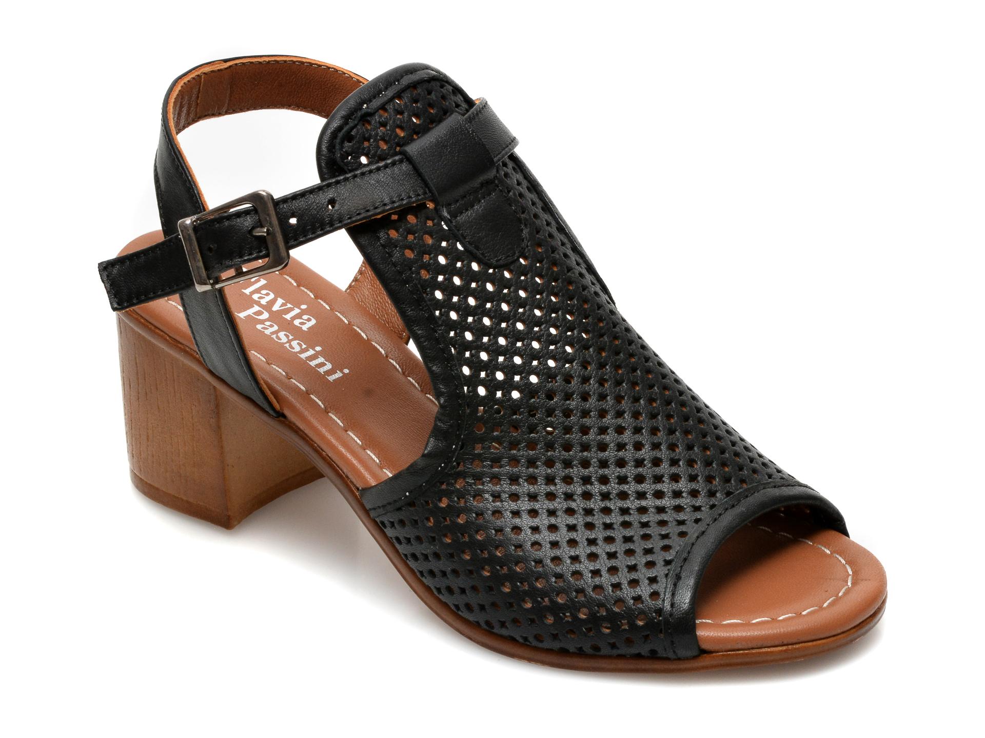 Sandale FLAVIA PASSINI negre, 108, din piele naturala imagine otter.ro 2021