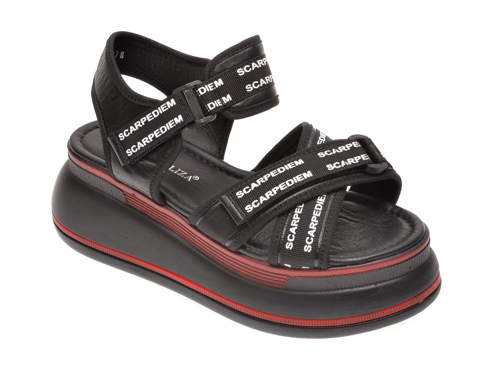 Sandale FLAVIA PASSINI negre, 1182381, din piele naturala