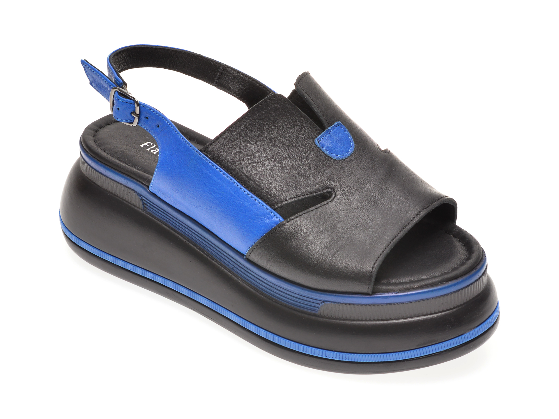 Sandale FLAVIA PASSINI negre, 1182384, din piele naturala