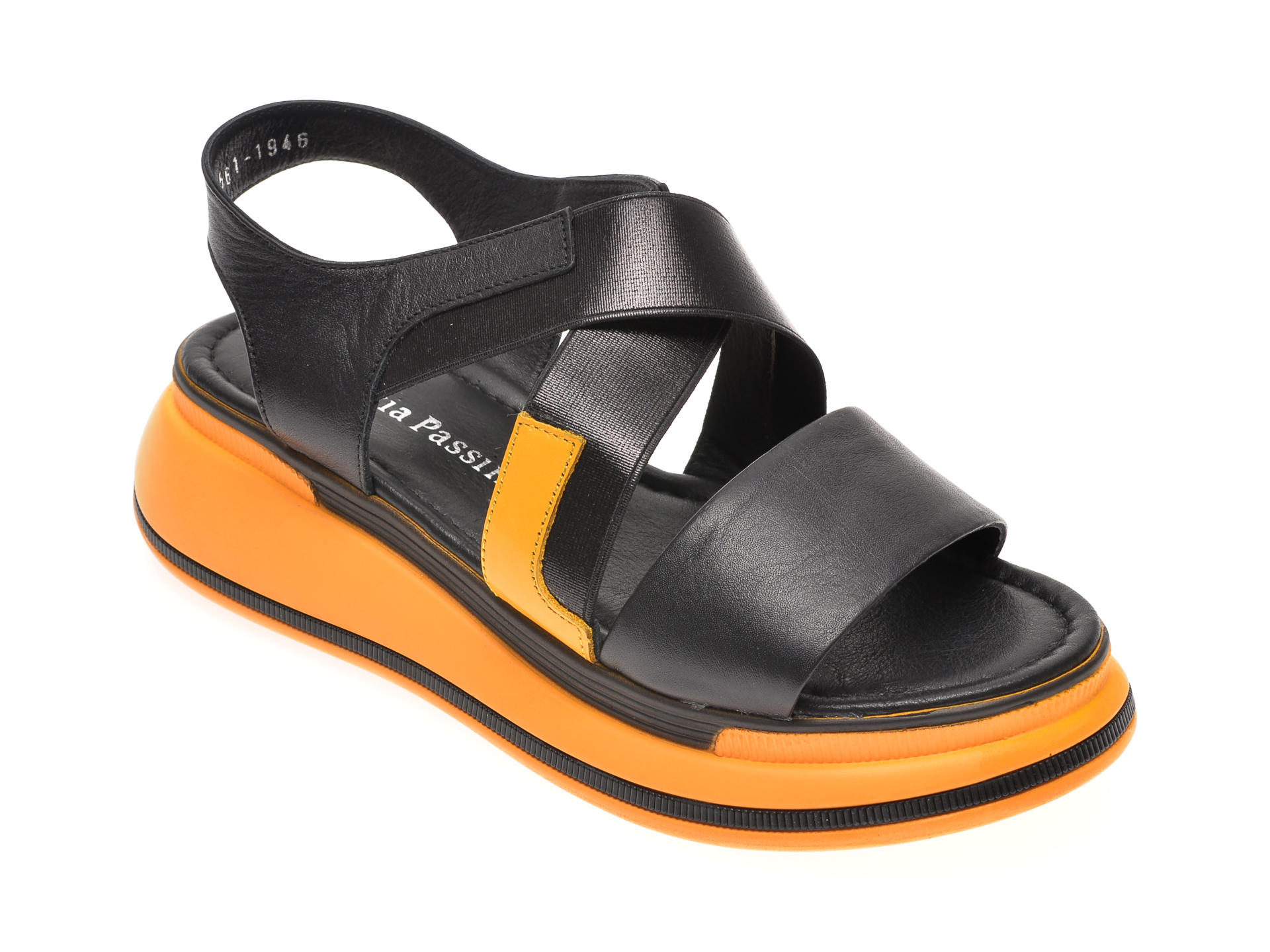 Sandale FLAVIA PASSINI negre, 1182561, din piele naturala