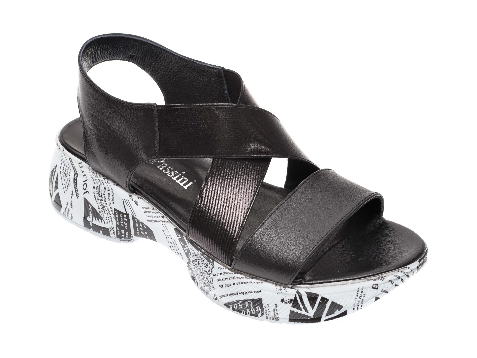 Sandale FLAVIA PASSINI negre, 133709, din piele naturala