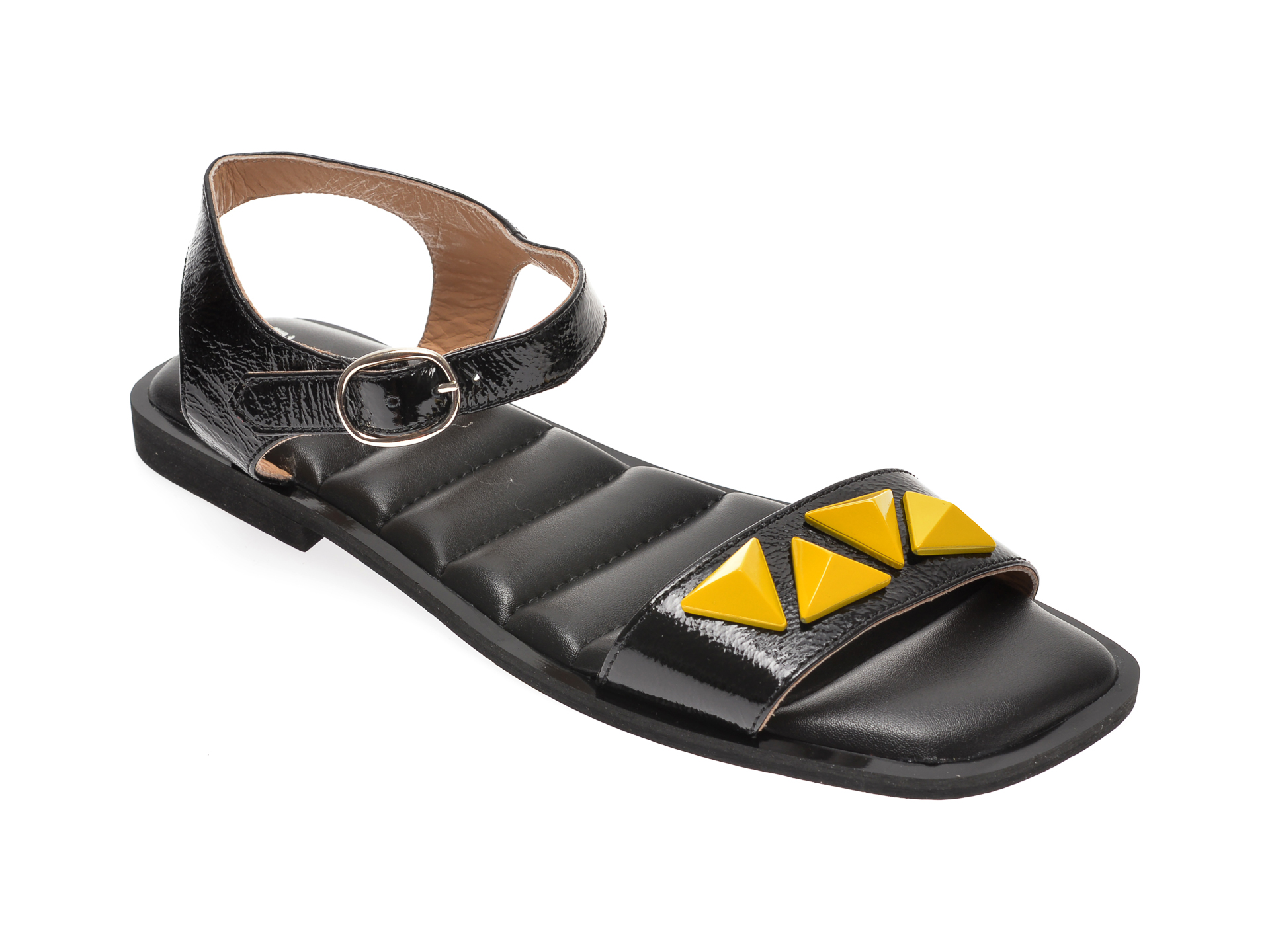 Sandale FLAVIA PASSINI negre, 136A640, din lac piele New