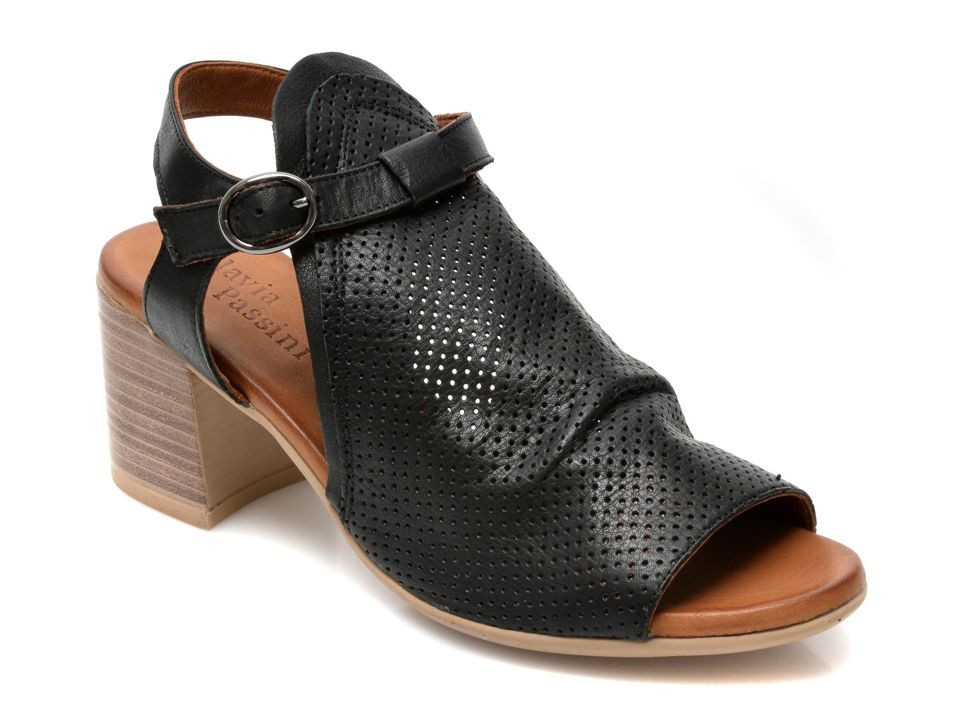 Sandale FLAVIA PASSINI negre, 1700, din piele naturala imagine otter.ro 2021