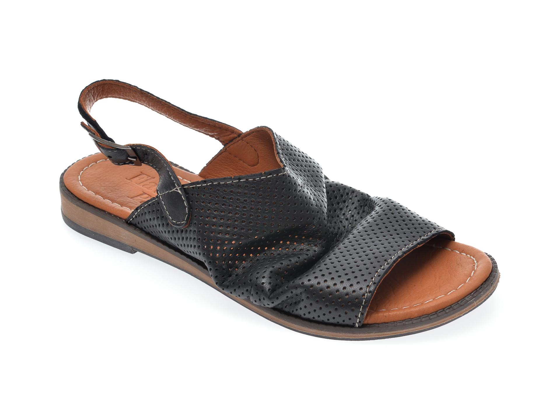 Sandale FLAVIA PASSINI negre, 201, din piele naturala New