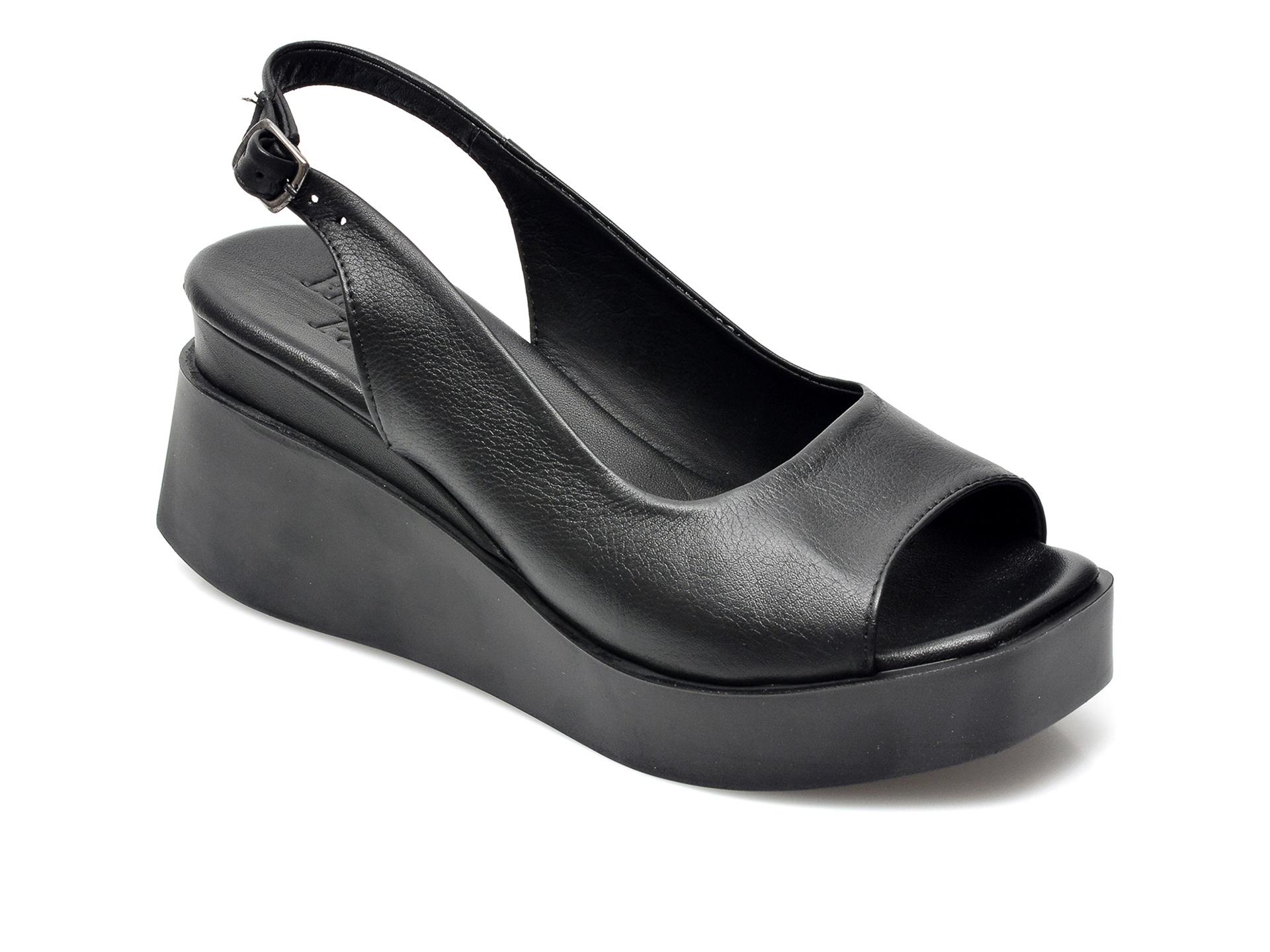 Sandale FLAVIA PASSINI negre, 21300, din piele naturala imagine otter.ro 2021