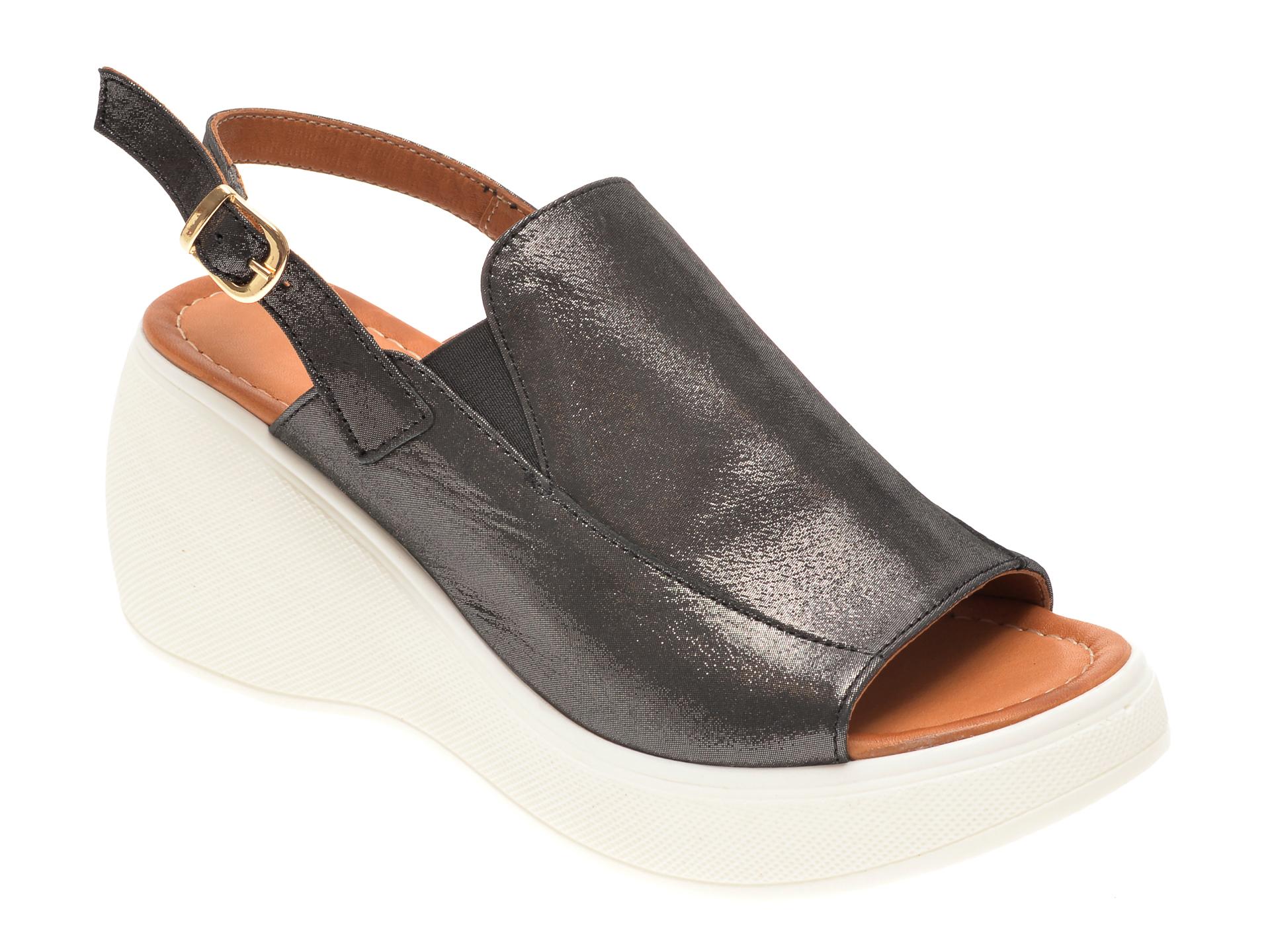 Sandale FLAVIA PASSINI negre, 2446, din piele naturala