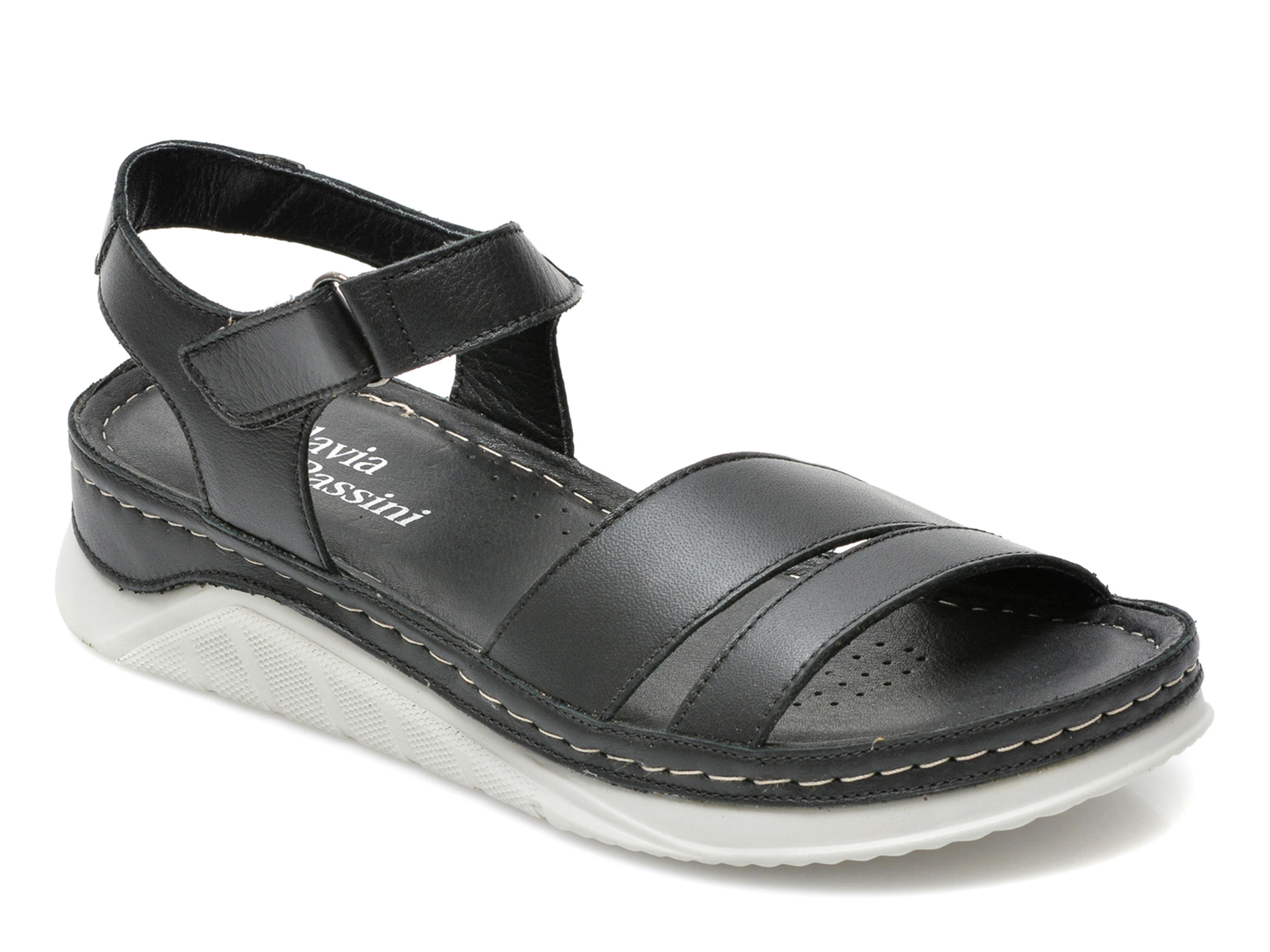 Sandale FLAVIA PASSINI negre, 2959, din piele naturala imagine 2021 Flavia Passini