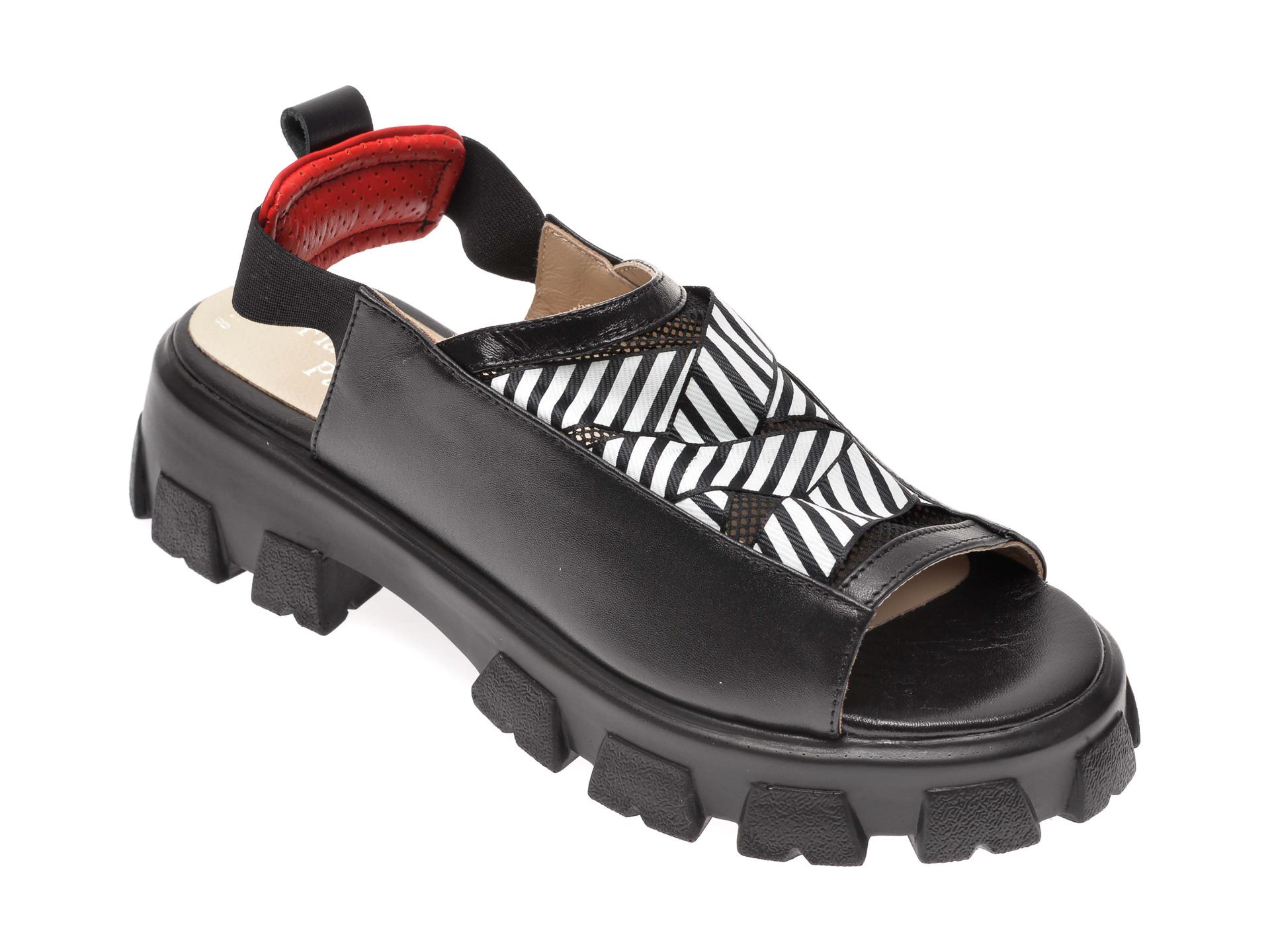 Sandale FLAVIA PASSINI negre, 3068122, din piele naturala New