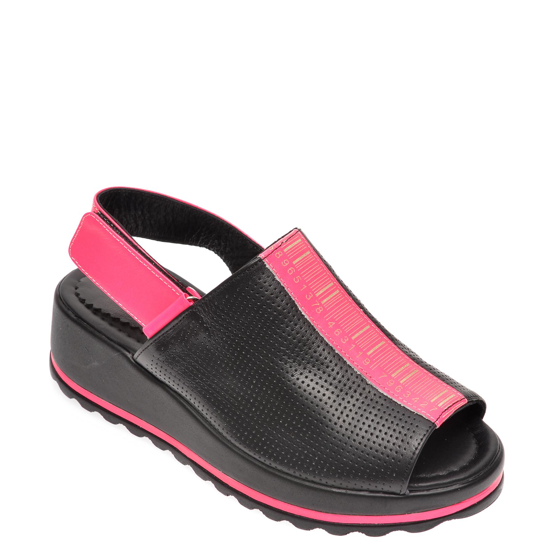 Sandale FLAVIA PASSINI negre, 402970, din piele naturala
