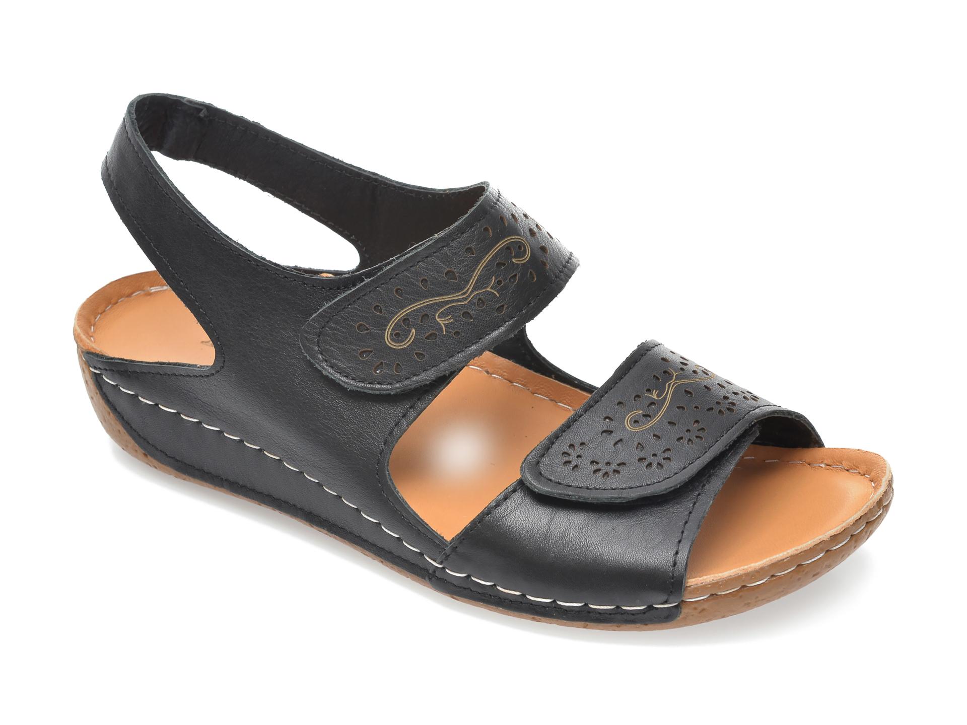 Sandale FLAVIA PASSINI negre, 416, din piele naturala imagine otter.ro 2021