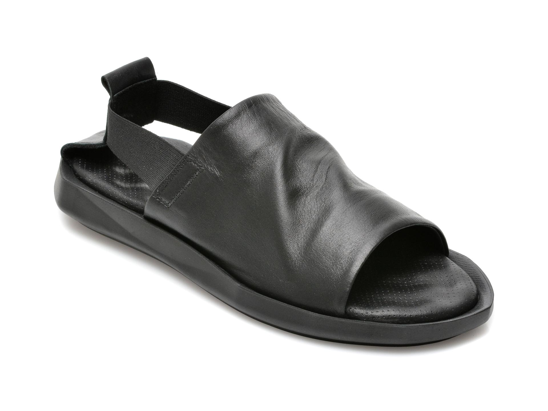 Sandale FLAVIA PASSINI negre, 42641, din piele naturala imagine otter.ro 2021