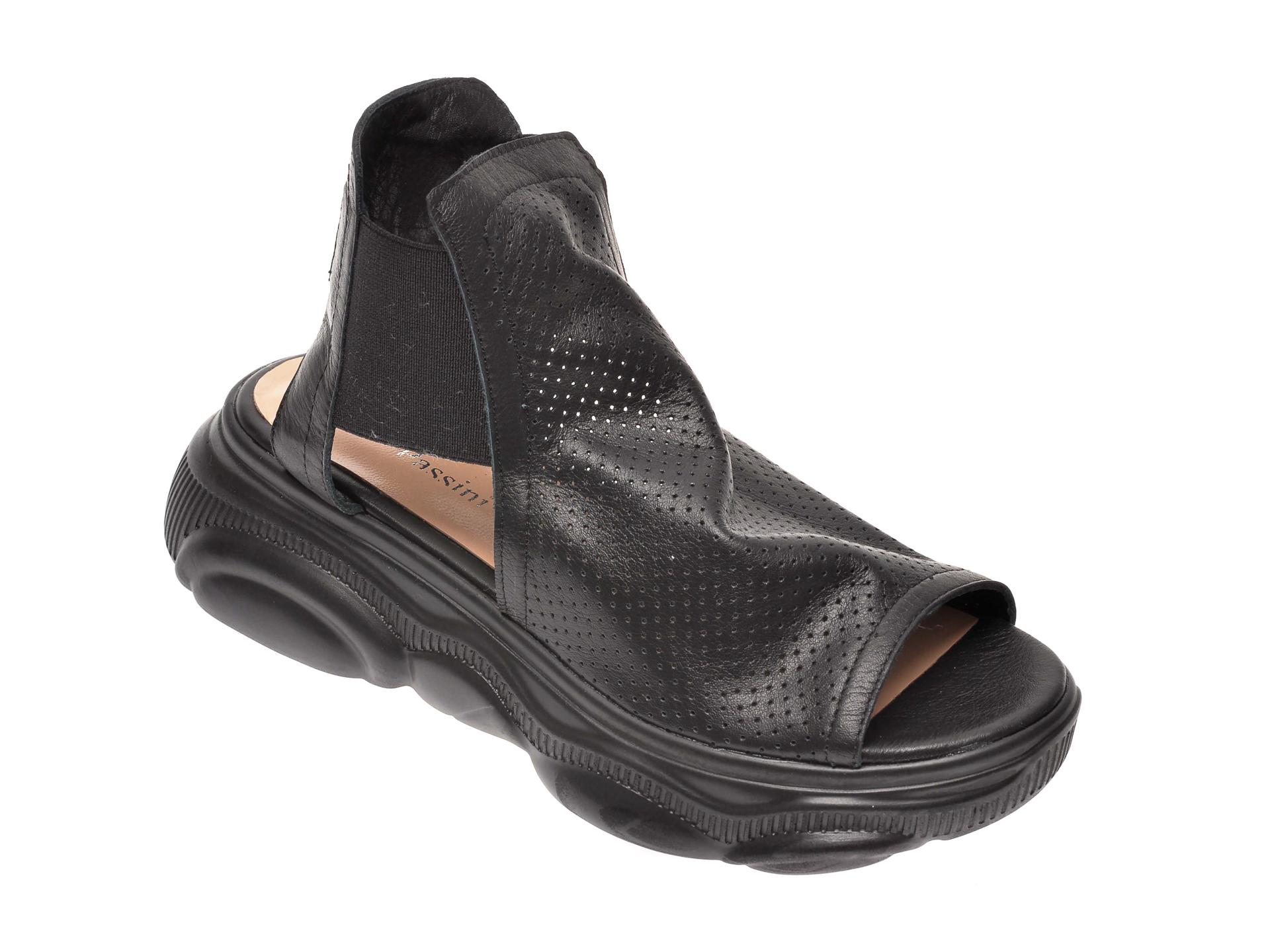 Sandale FLAVIA PASSINI negre, 4442634, din piele naturala