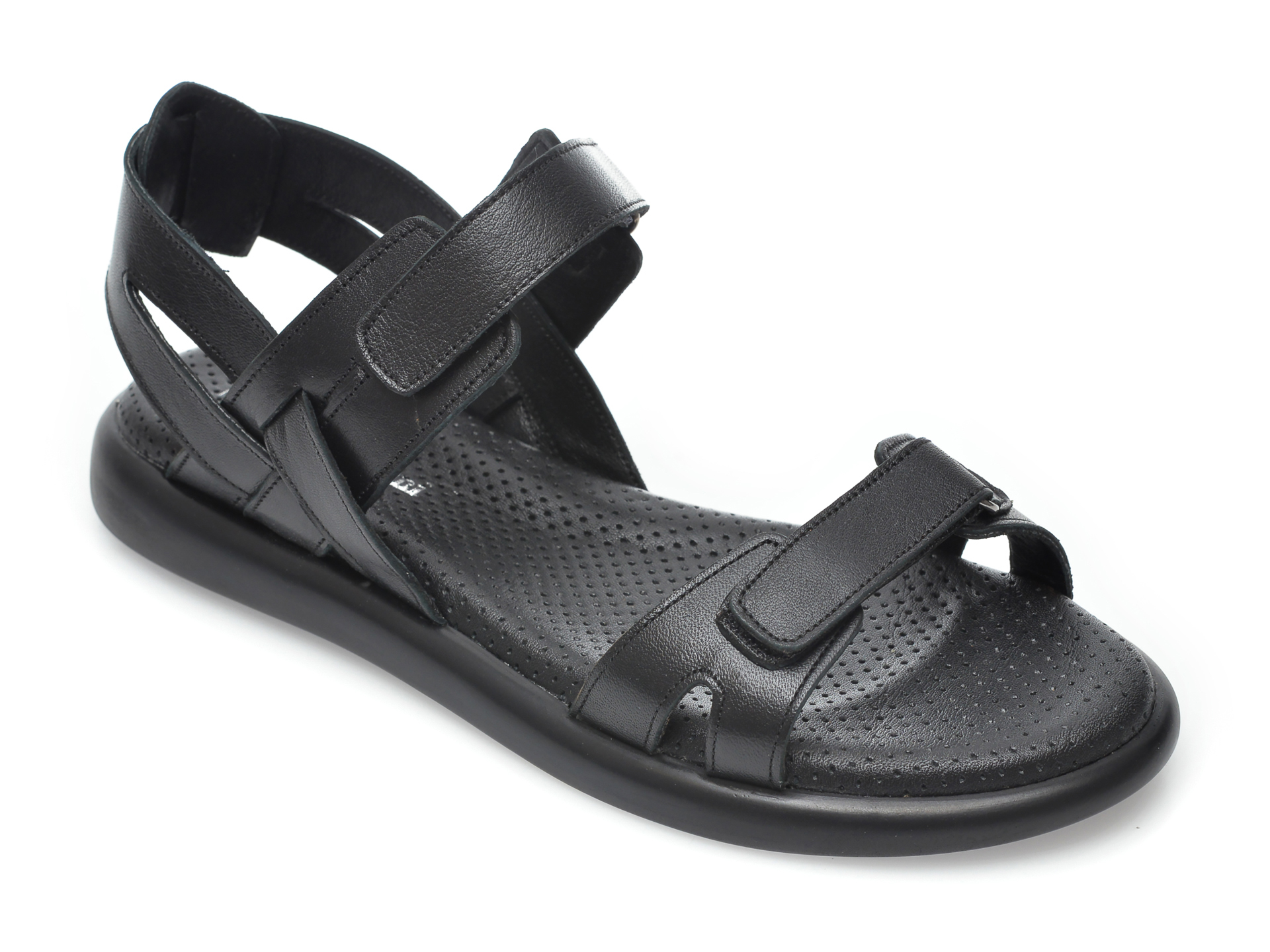 Sandale FLAVIA PASSINI negre, 4940, din piele naturala imagine otter.ro