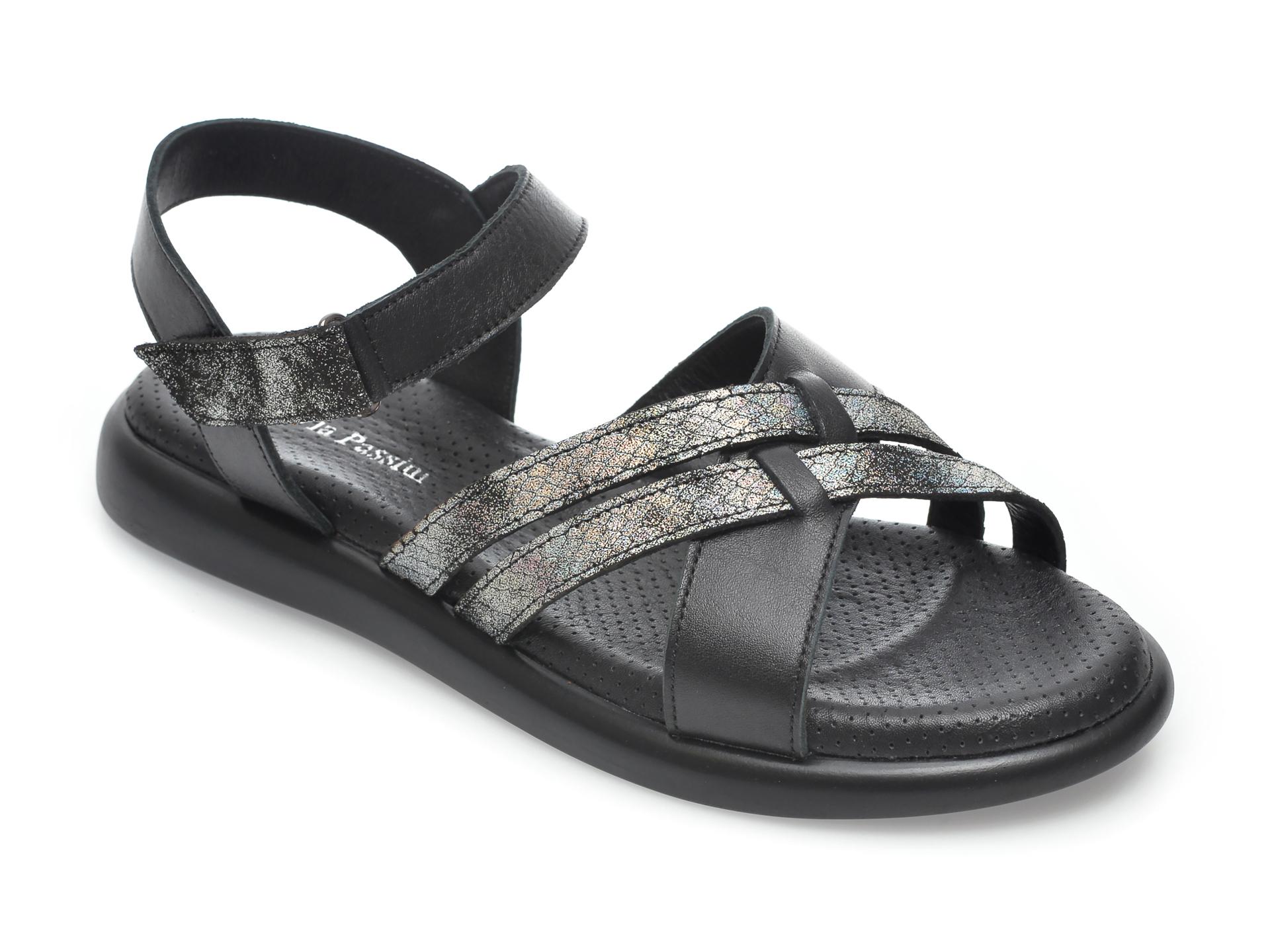 Sandale FLAVIA PASSINI negre, 4955, din piele naturala imagine otter.ro 2021