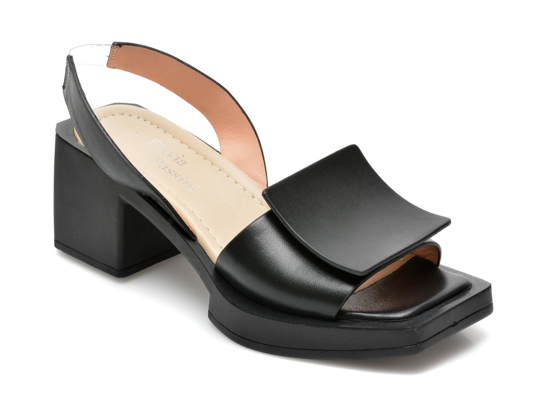 Sandale FLAVIA PASSINI negre, 739H305, din piele naturala