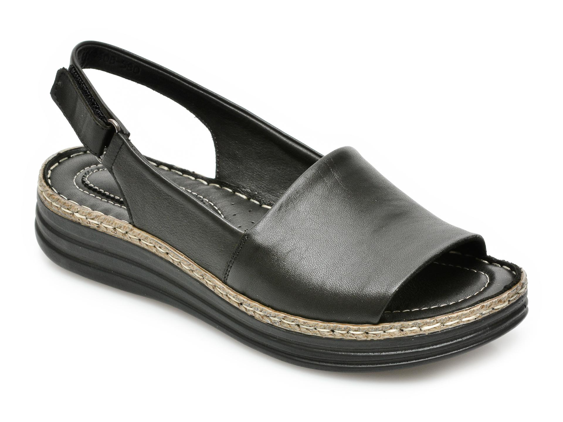 Sandale FLAVIA PASSINI negre, 9408580, din piele naturala imagine otter.ro 2021