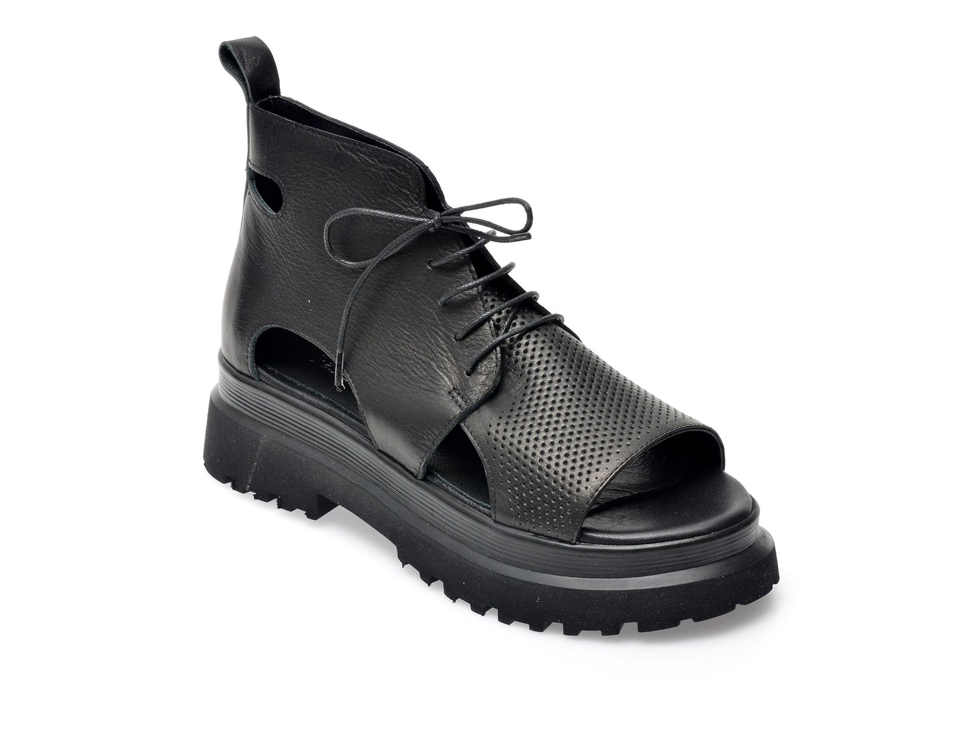 Sandale FLAVIA PASSINI negre, 941131, din piele naturala imagine otter.ro 2021