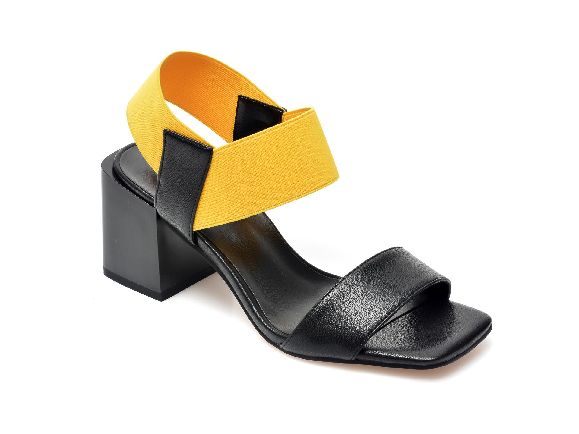 Sandale FLAVIA PASSINI negre, C563K18, din din material textil si piele ecologica imagine otter.ro 2021