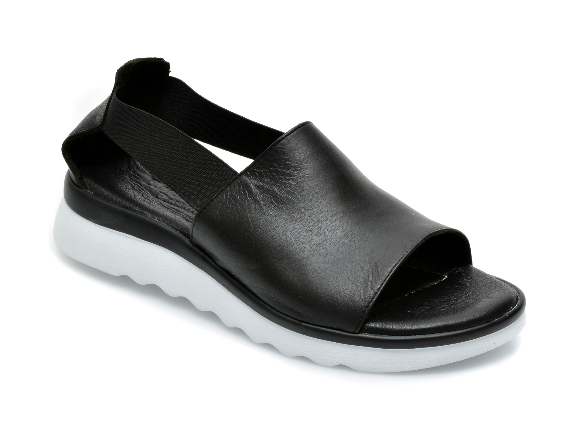 Sandale FLAVIA PASSINI negre, EI24501, din piele naturala imagine otter.ro 2021