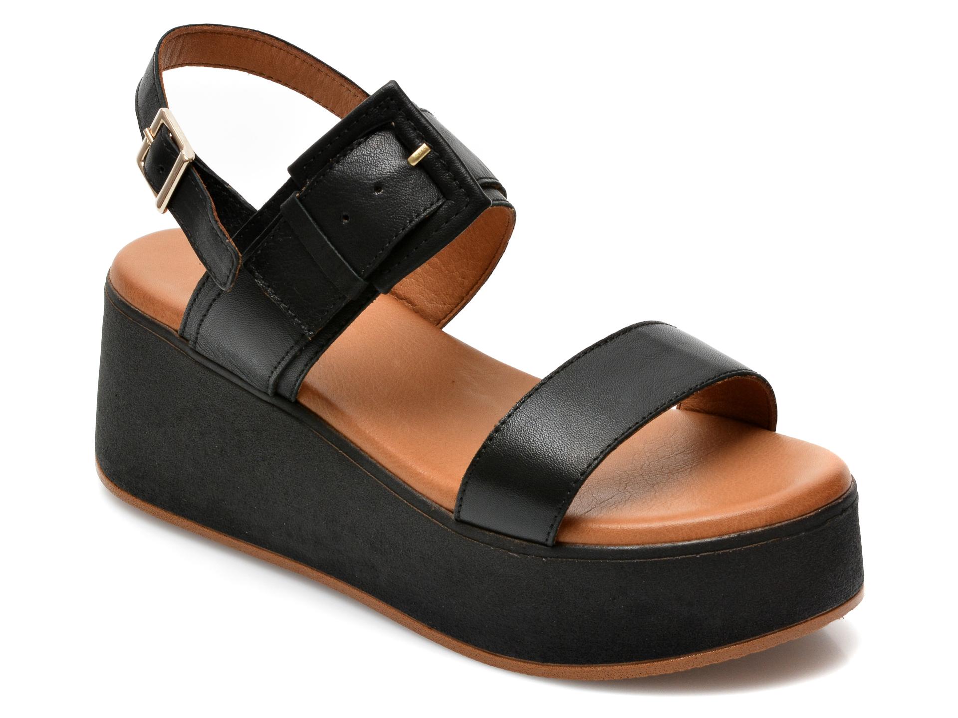 Sandale FLAVIA PASSINI negre, ES207, din piele naturala imagine otter.ro 2021