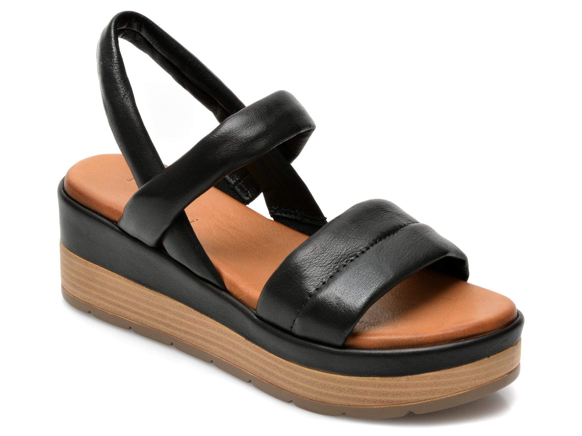 Sandale FLAVIA PASSINI negre, ES3012, din piele naturala imagine otter.ro 2021