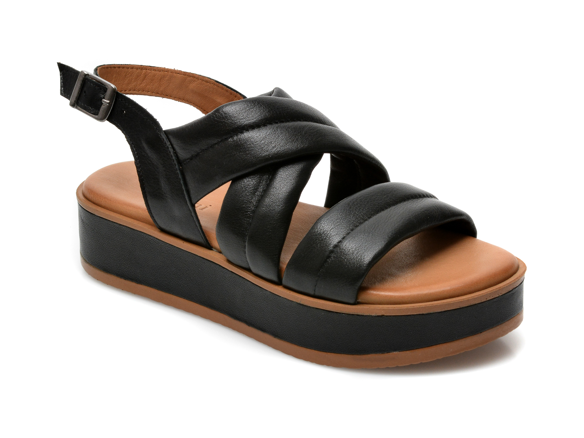 Sandale FLAVIA PASSINI negre, ES908, din piele naturala imagine otter.ro 2021