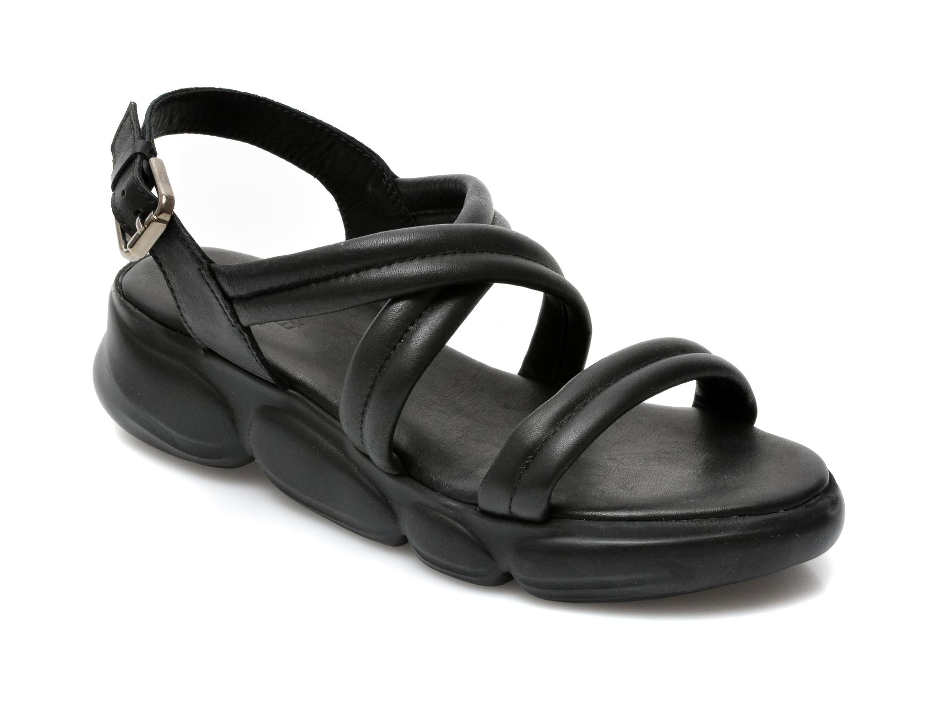 Sandale FLAVIA PASSINI negre, MS1083, din piele naturala imagine otter.ro 2021