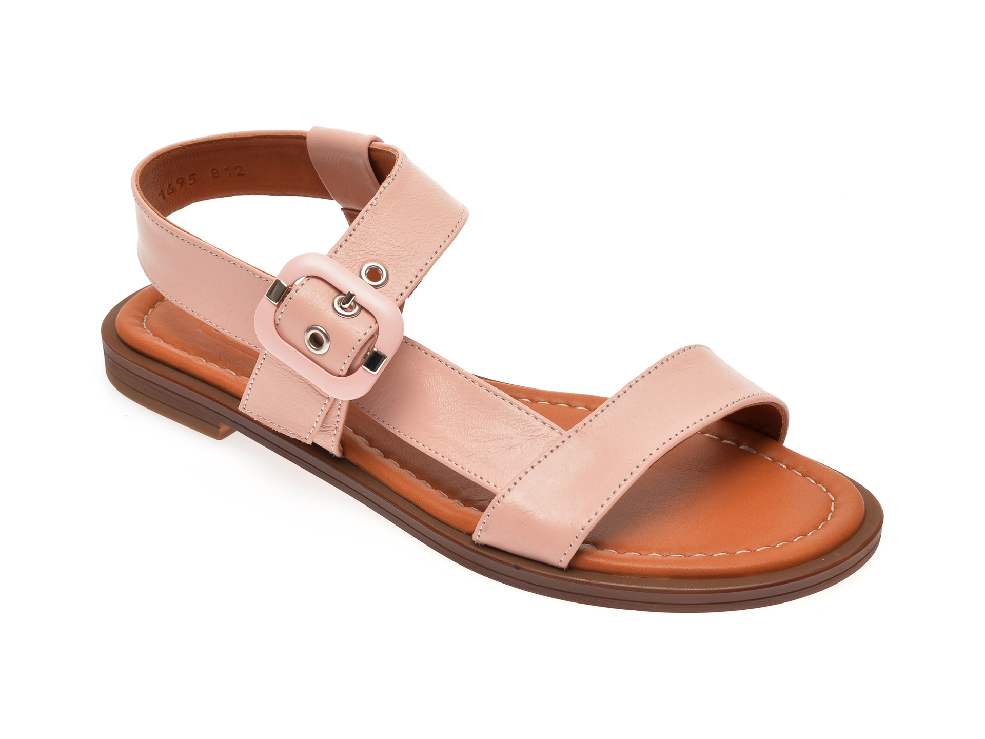 Sandale FLAVIA PASSINI nude, 0021695, din piele naturala