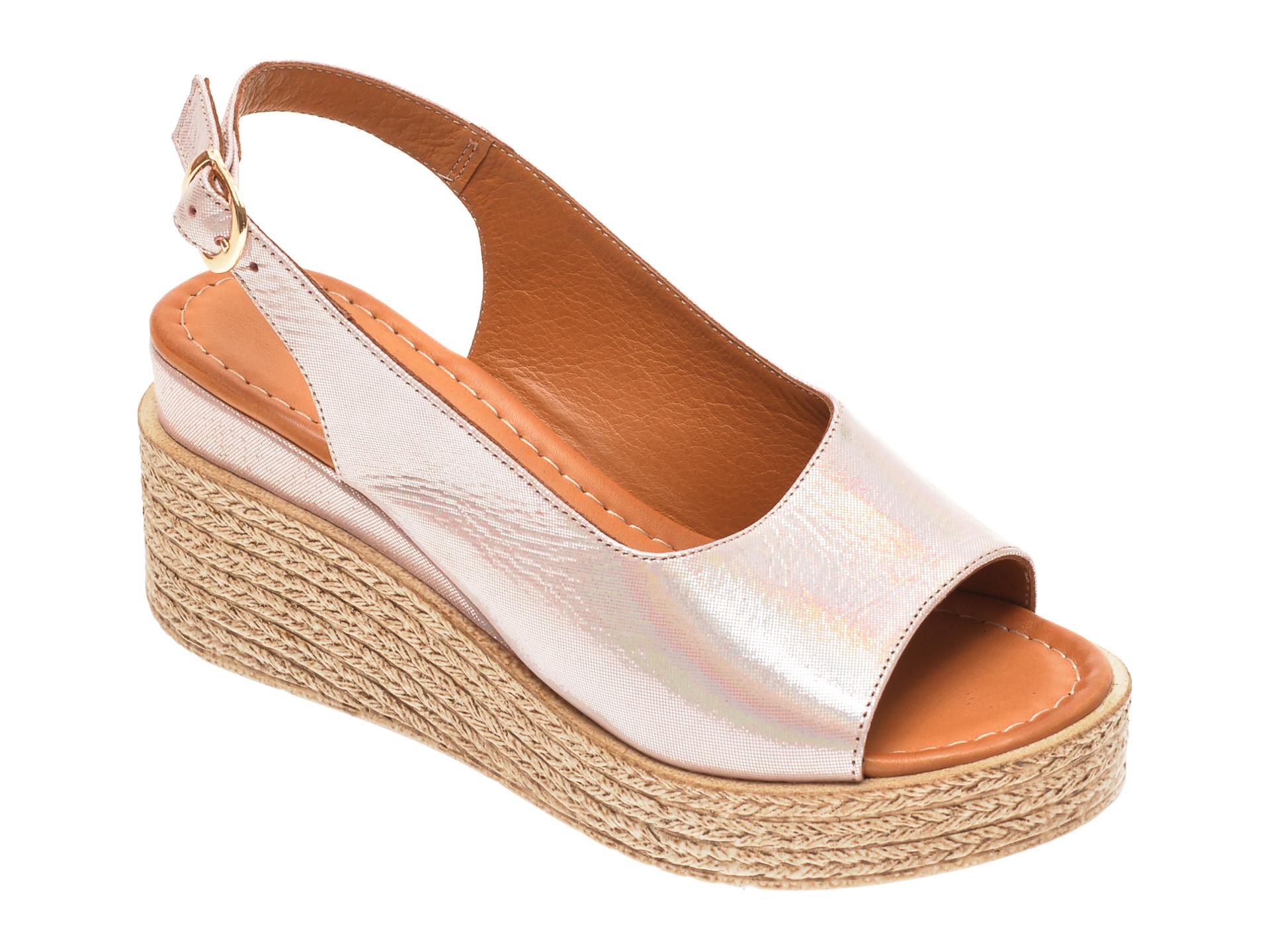 Sandale FLAVIA PASSINI nude, 1182734, din piele naturala