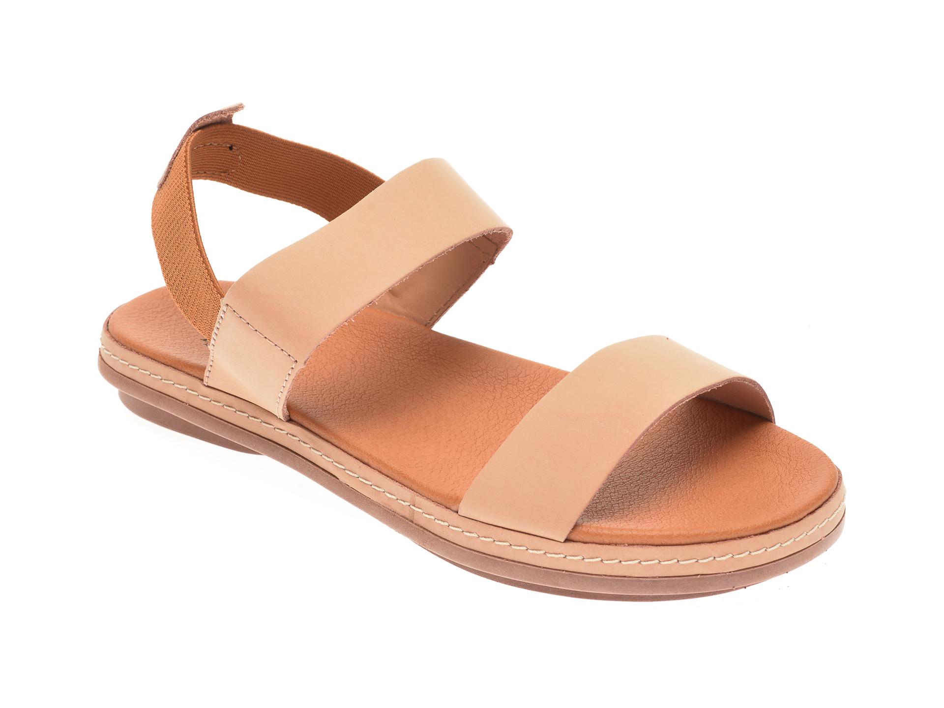 Sandale FLAVIA PASSINI nude, 21804, din piele naturala