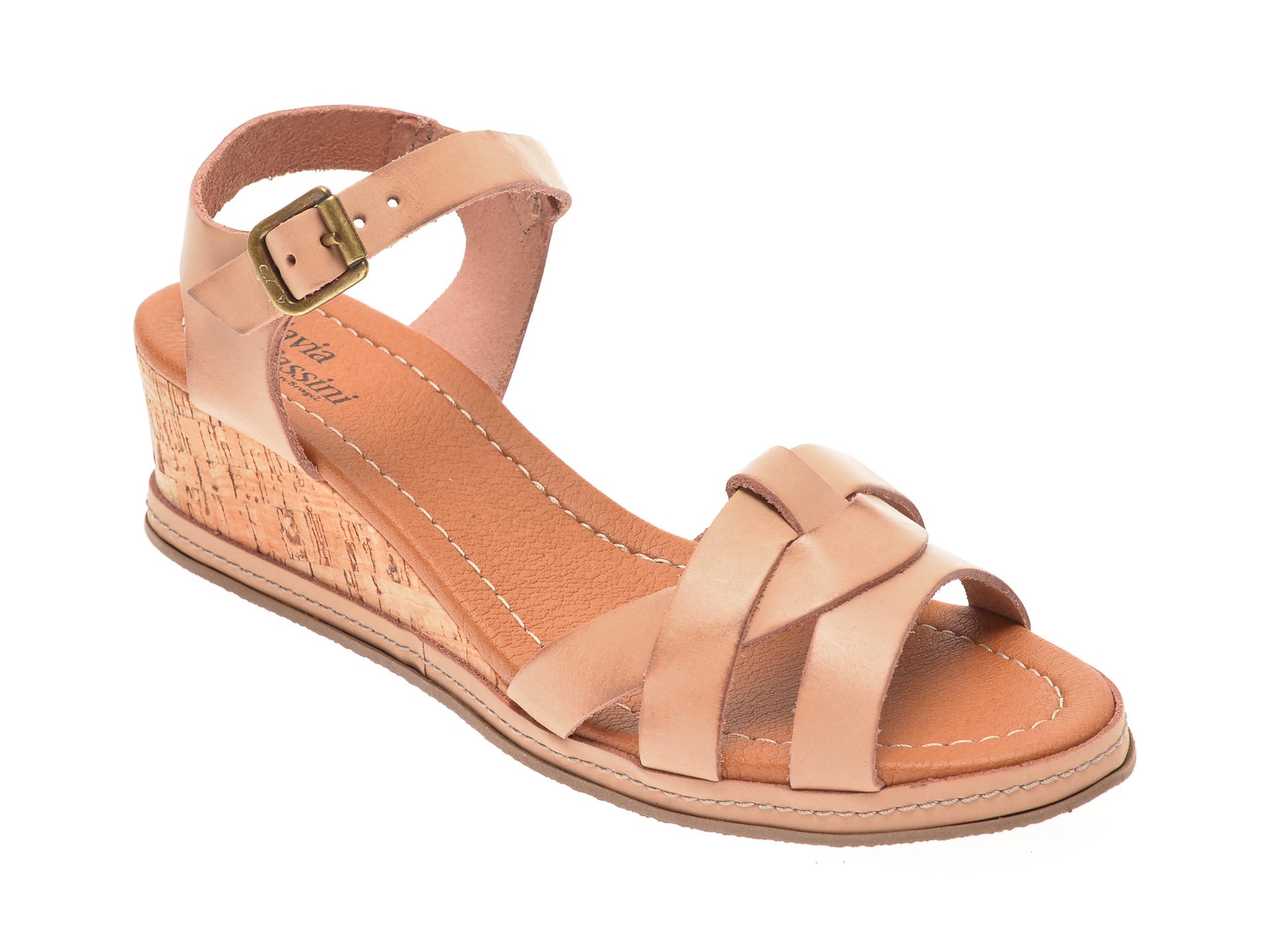 Sandale FLAVIA PASSINI nude, 22001, din piele naturala