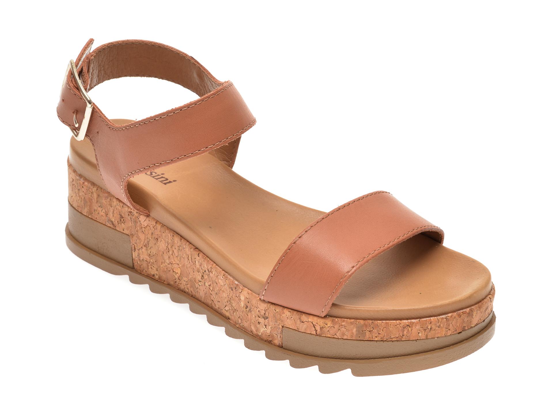 Sandale FLAVIA PASSINI nude, 306601, din piele naturala