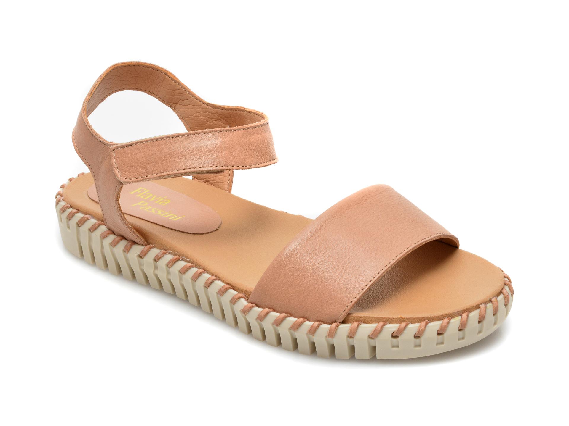 Sandale FLAVIA PASSINI nude, 314409, din piele naturala imagine 2021 Flavia Passini