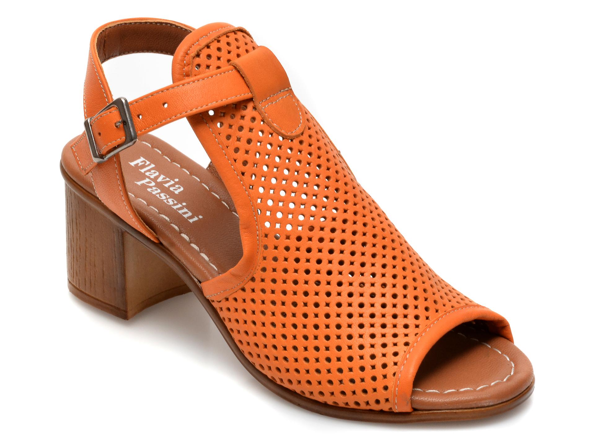 Sandale FLAVIA PASSINI portocalii, 108, din piele naturala imagine otter.ro 2021