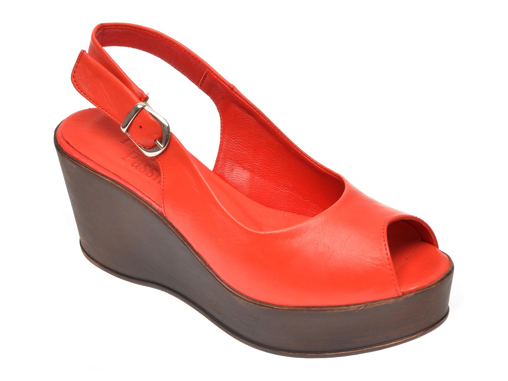 Sandale FLAVIA PASSINI portocalii, 1110, din piele naturala