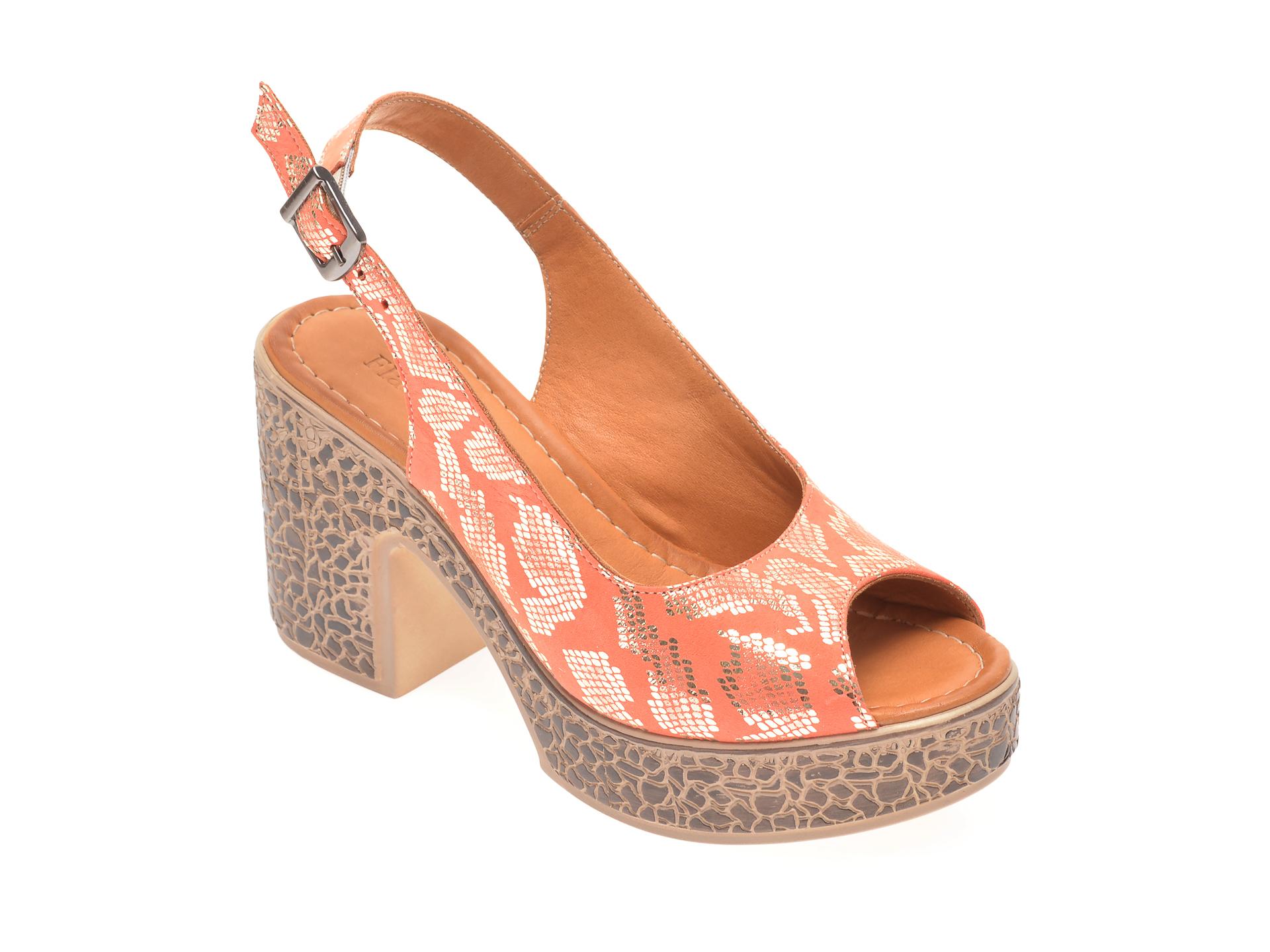 Sandale FLAVIA PASSINI portocalii, 1181735, din piele naturala imagine