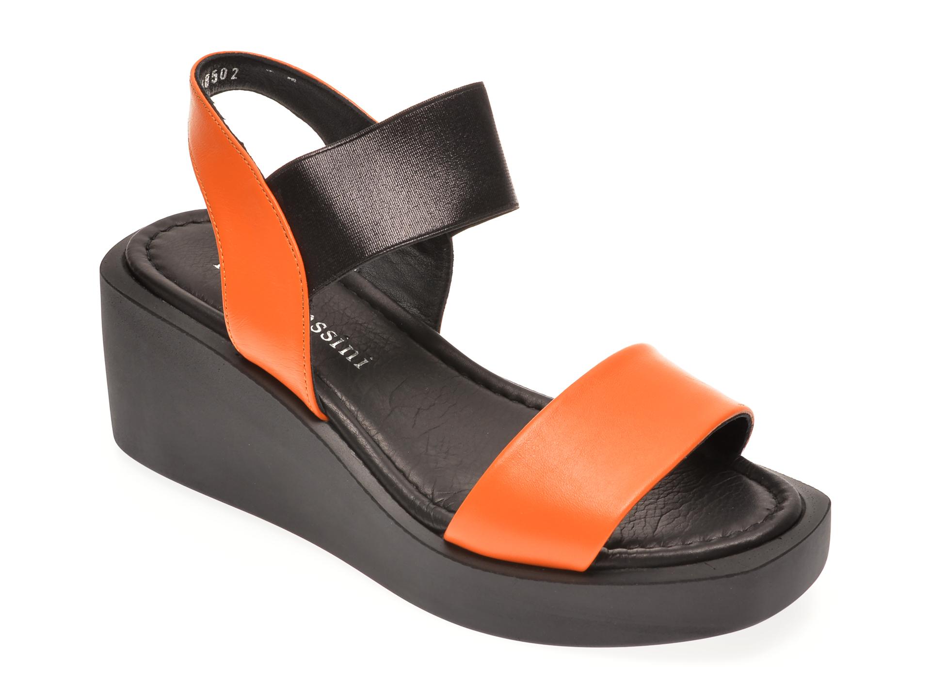 Sandale FLAVIA PASSINI portocalii, 1182666, din piele naturala New