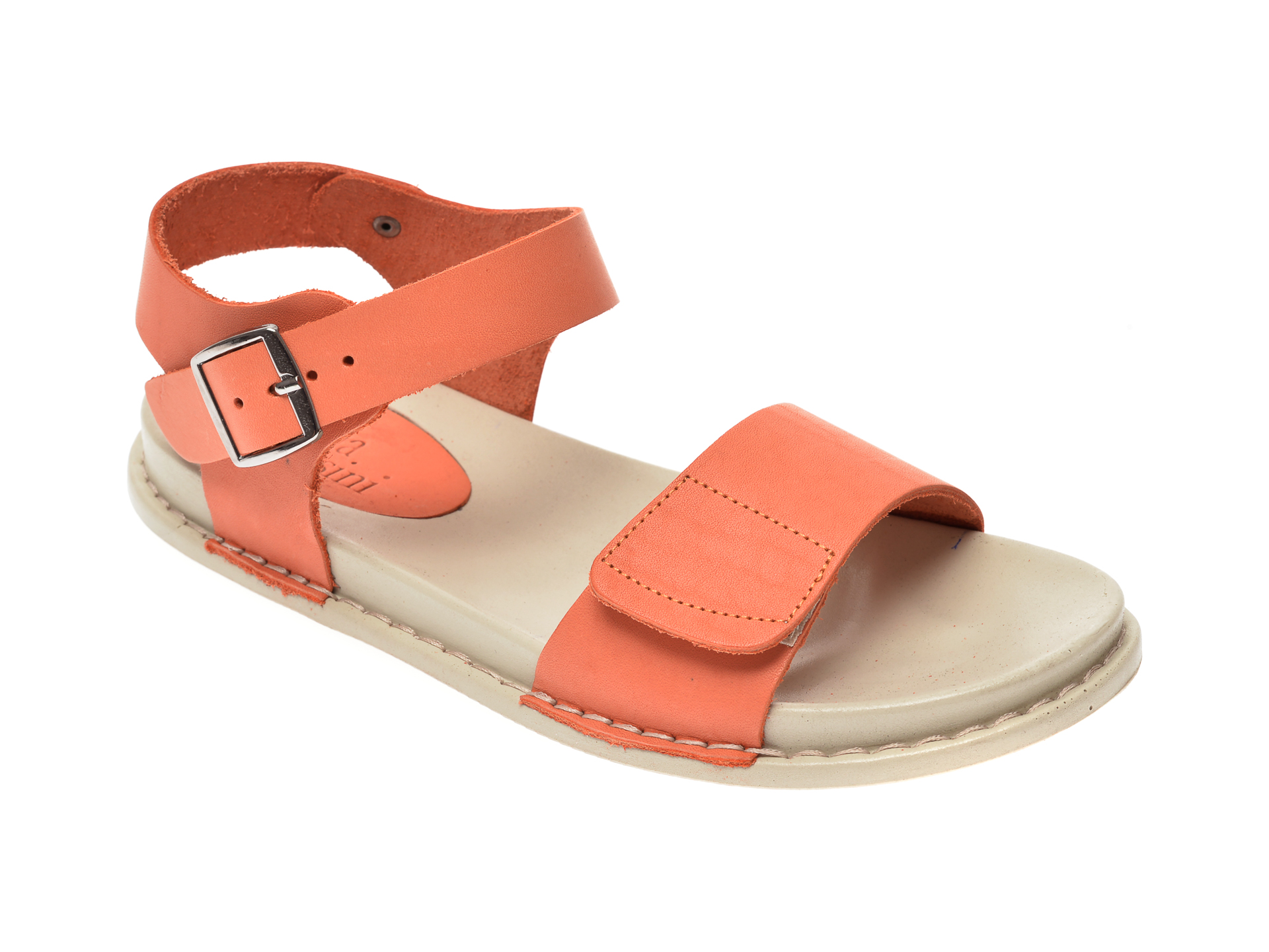 Sandale FLAVIA PASSINI portocalii, 1306, din piele naturala