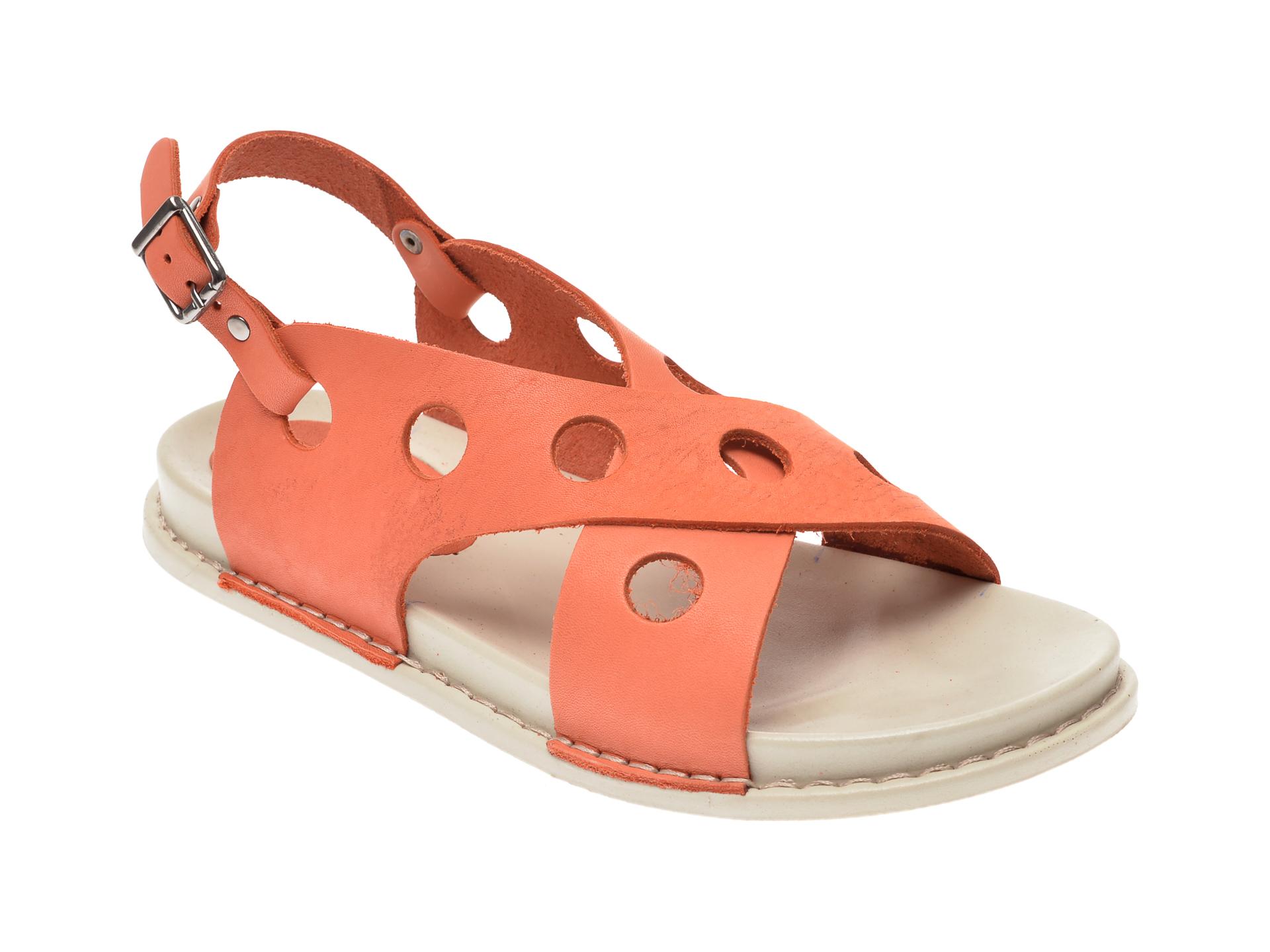 Sandale FLAVIA PASSINI portocalii, 1502, din piele naturala
