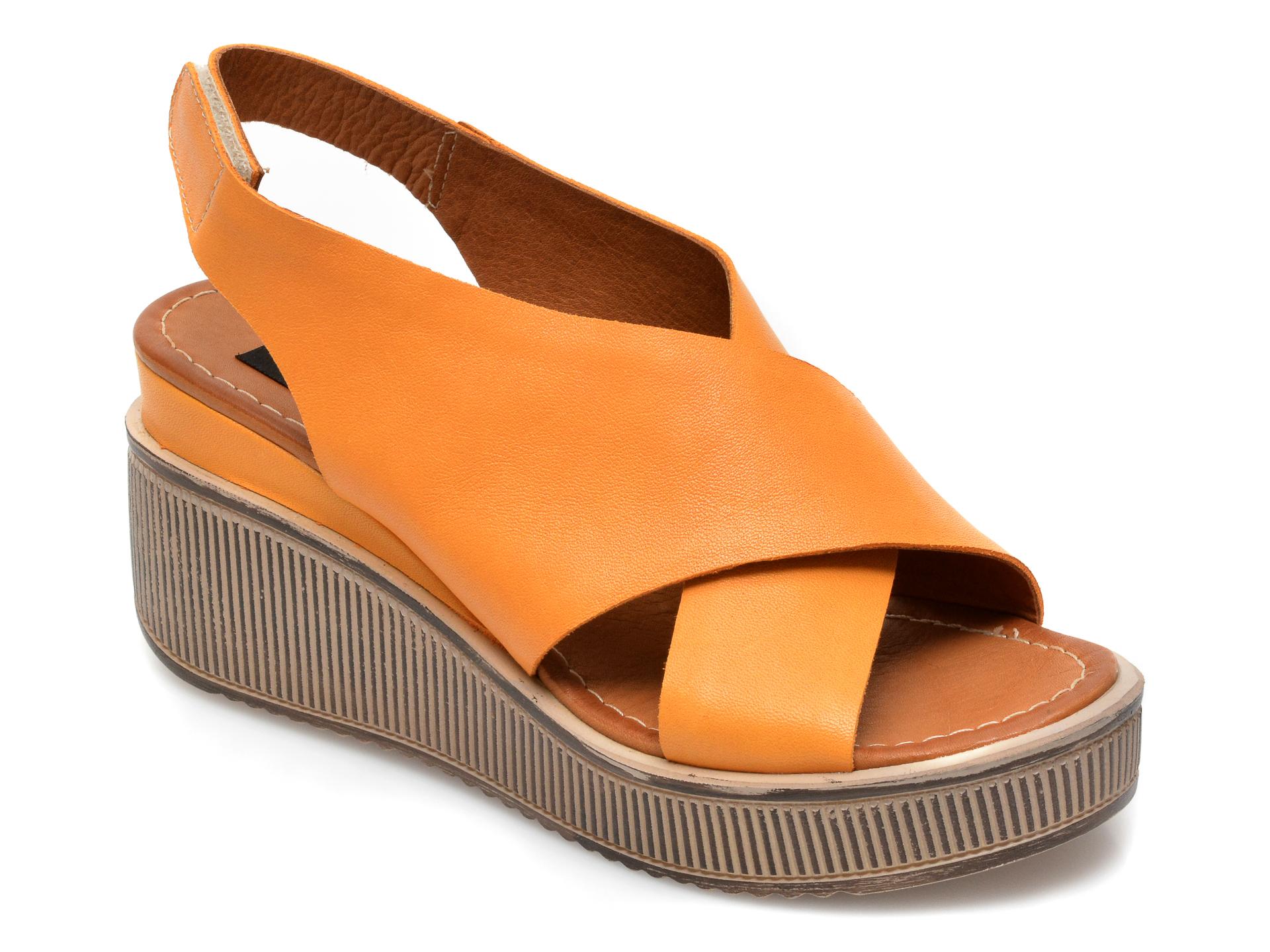 Sandale FLAVIA PASSINI portocalii, 1796PT, din piele naturala