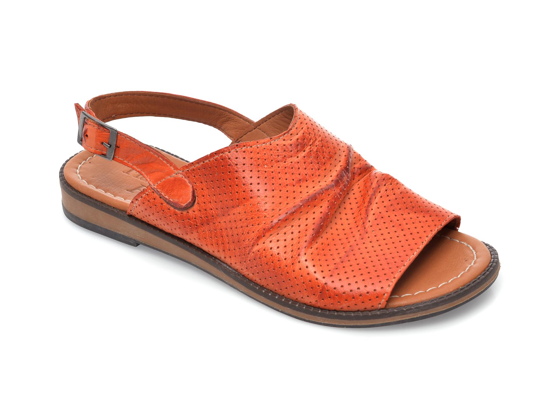 Sandale FLAVIA PASSINI portocalii, 201, din piele naturala imagine otter.ro