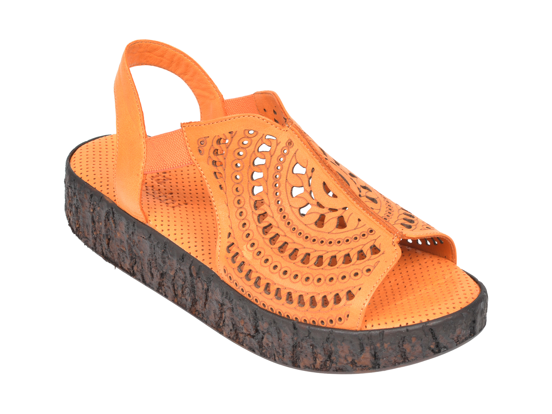 Sandale FLAVIA PASSINI portocalii, 2100, din piele naturala