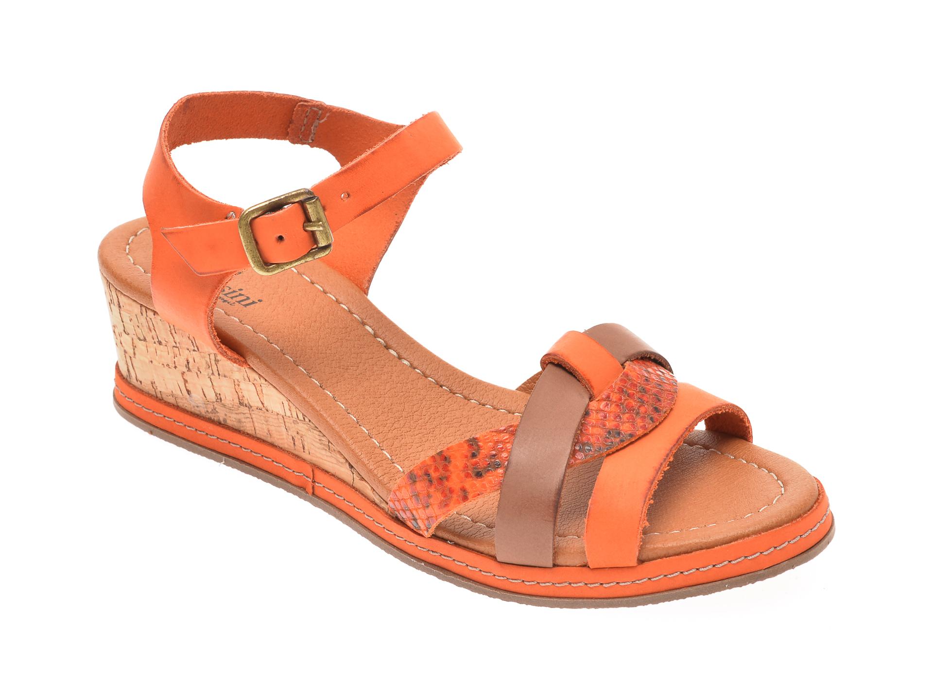 Sandale FLAVIA PASSINI portocalii, 22001, din piele naturala