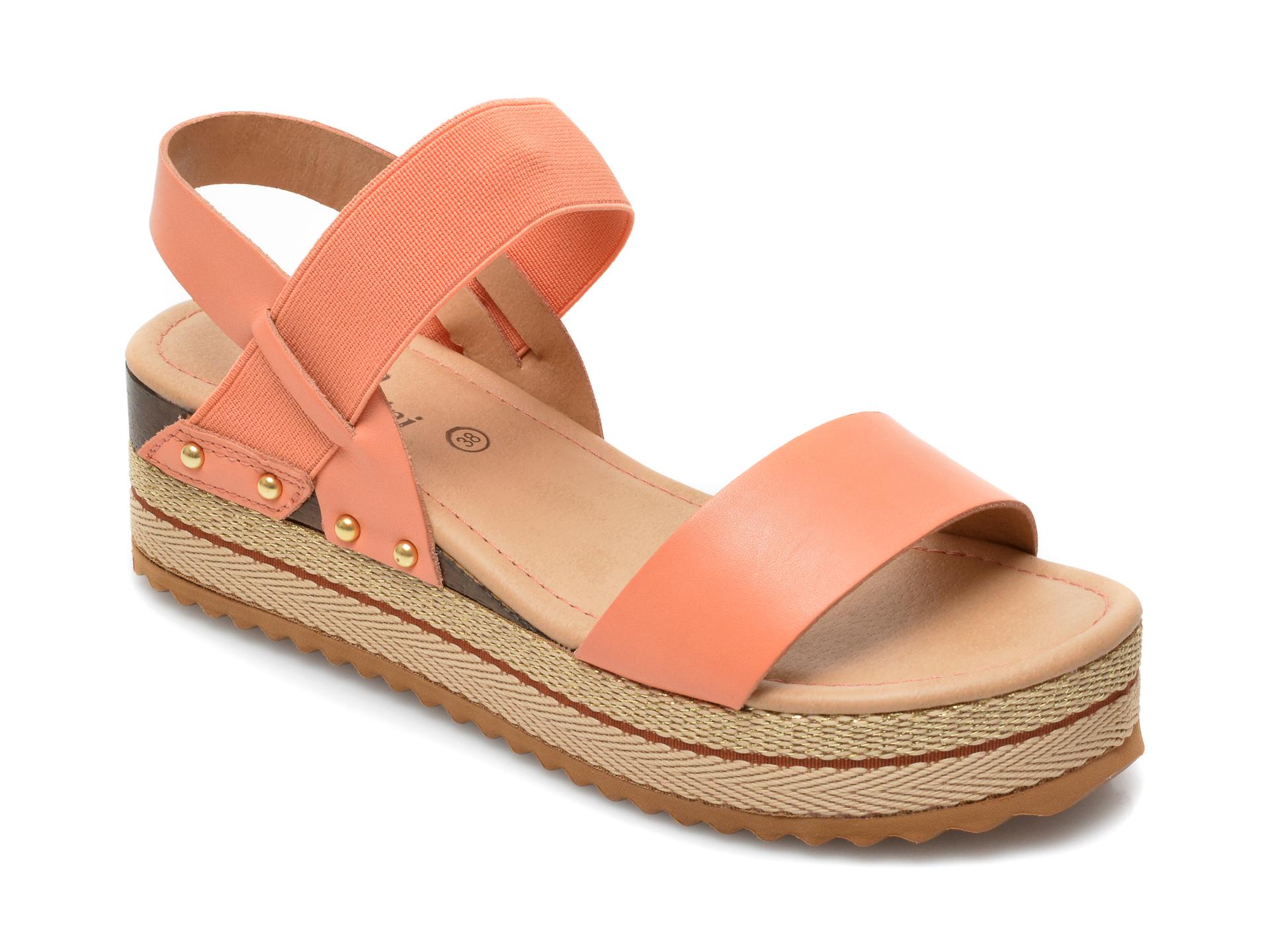 Sandale FLAVIA PASSINI portocalii, 320801, din piele naturala imagine otter.ro