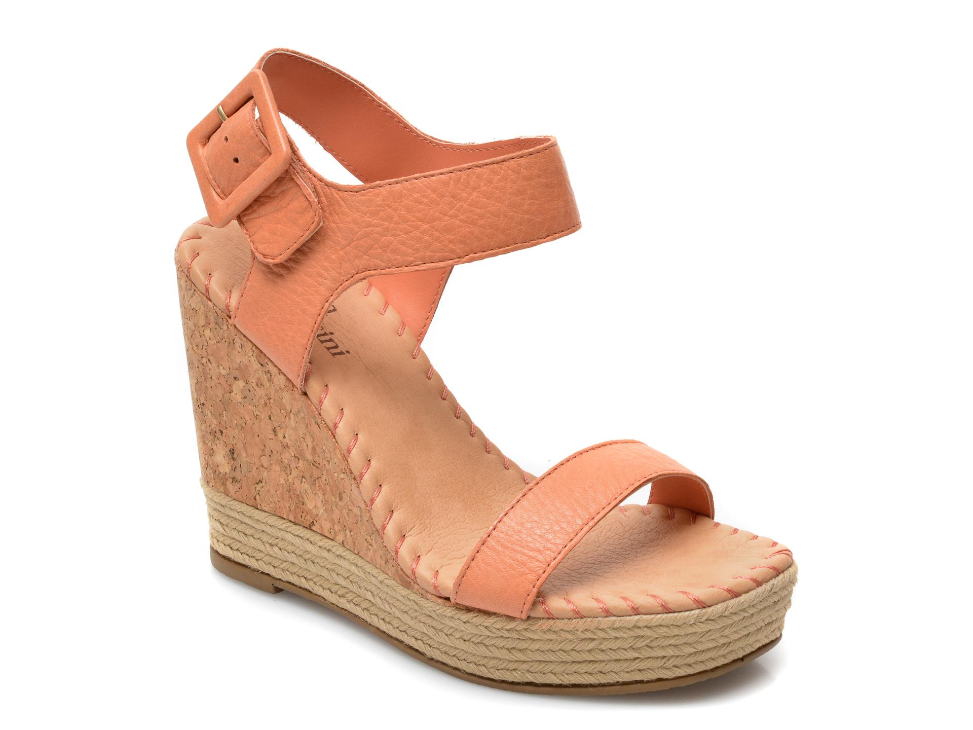 Sandale FLAVIA PASSINI portocalii, 323304, din piele naturala