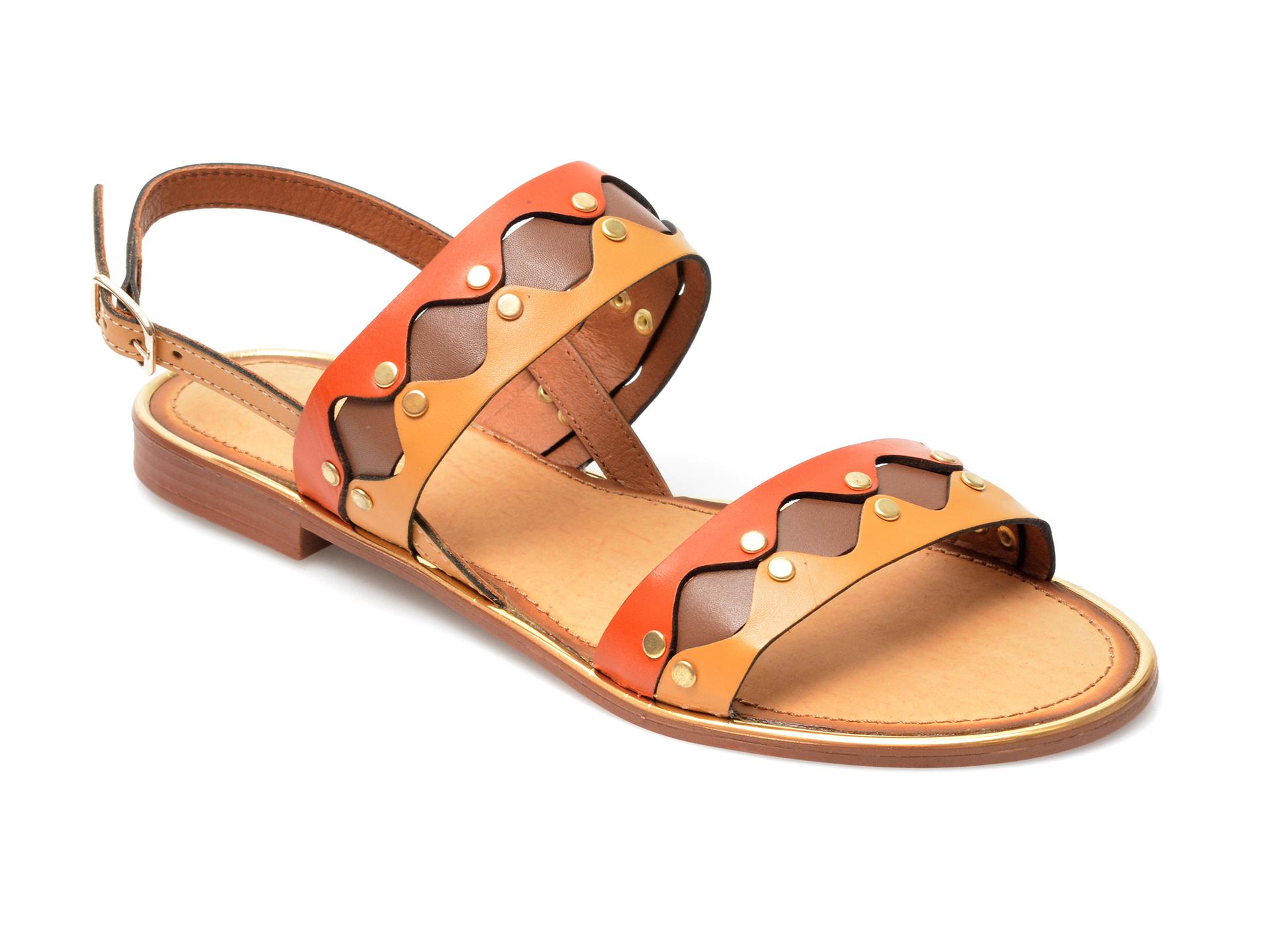 Sandale FLAVIA PASSINI portocalii, 5799, din piele naturala