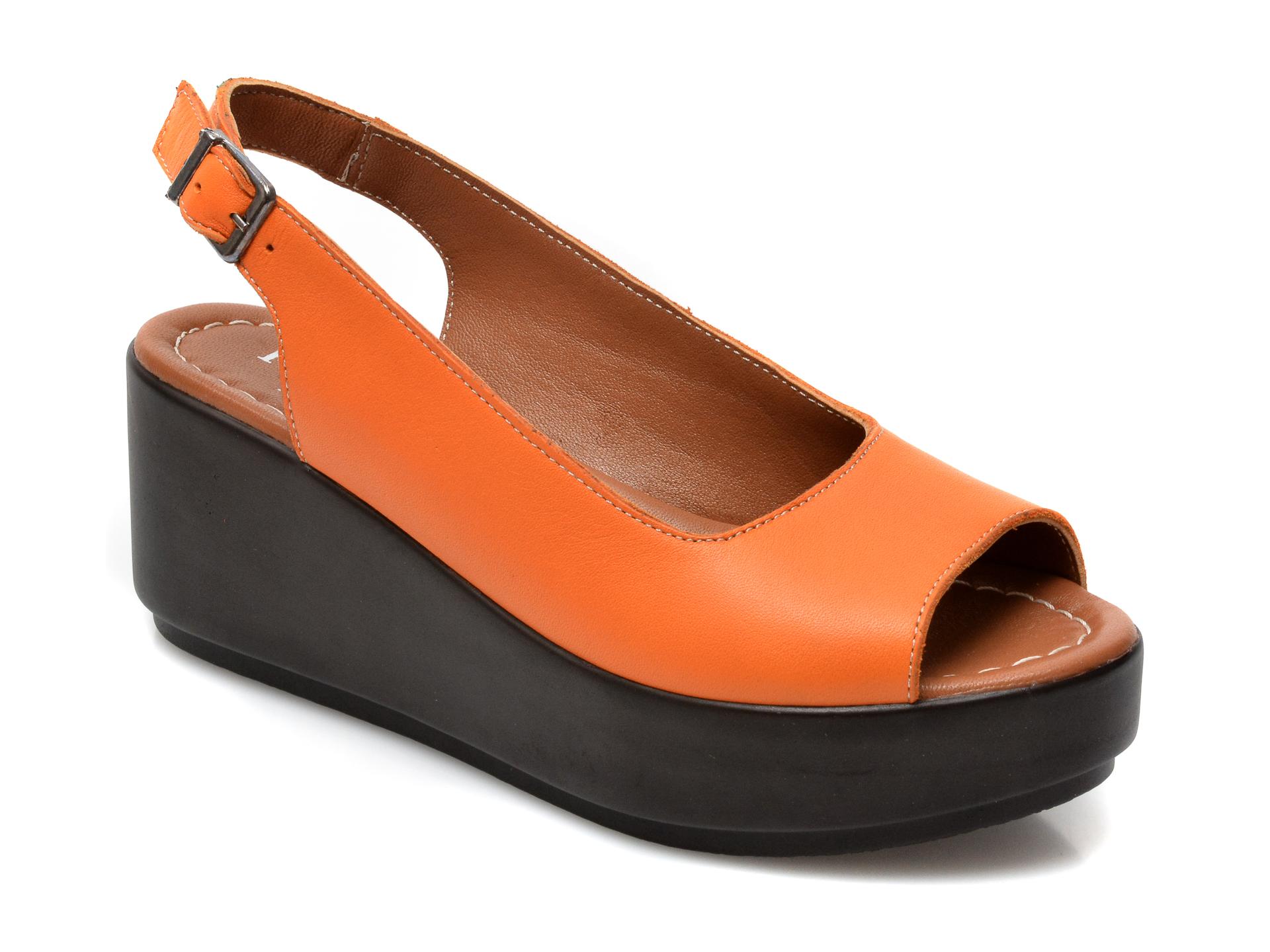 Sandale FLAVIA PASSINI portocalii, 808, din piele naturala imagine otter.ro 2021
